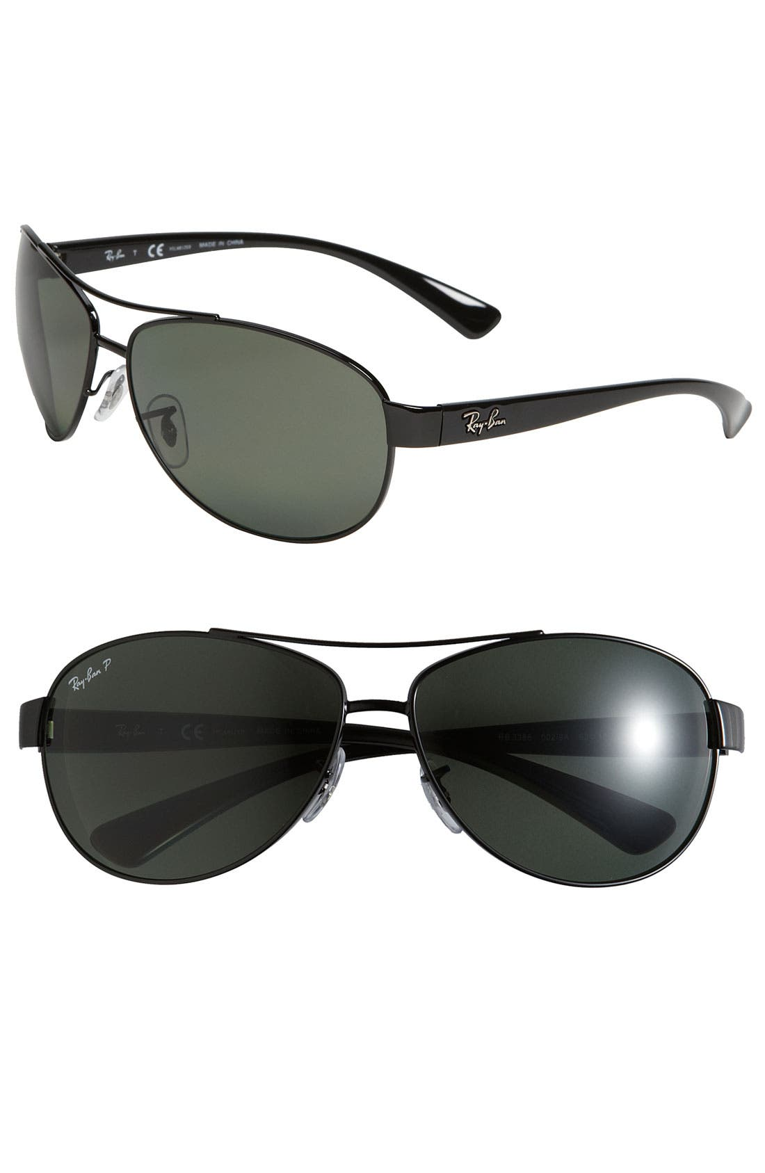 Main Image - Ray-Ban Nylon 63mm Aviator Sunglasses