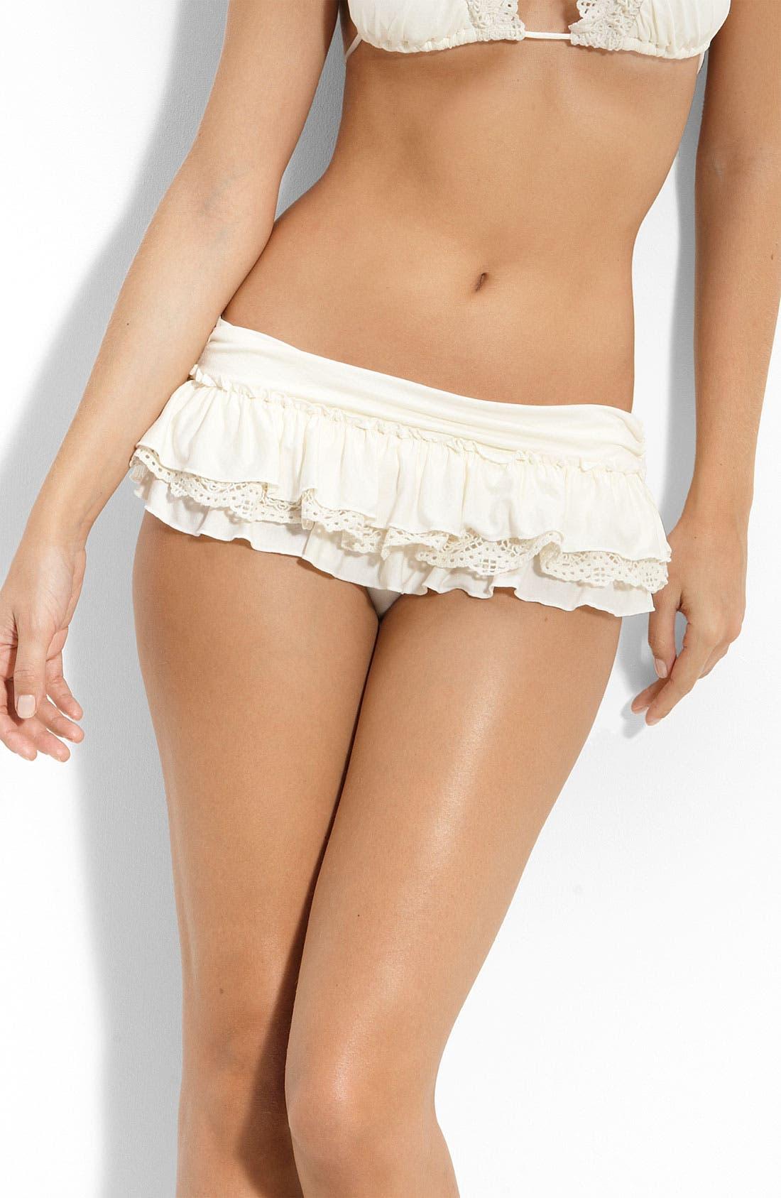 Alternate Image 1 Selected - Juicy Couture Beach Ruffle Bikini Bottoms