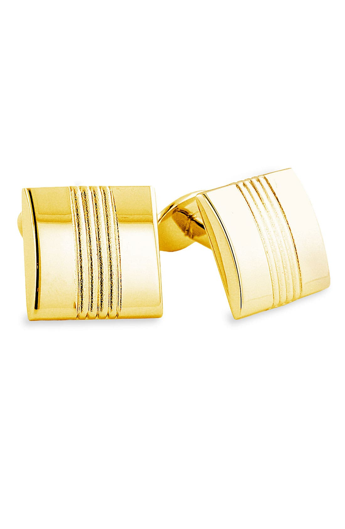 Sterling Silver Cuff Links,                         Main,                         color, Gold Metallic