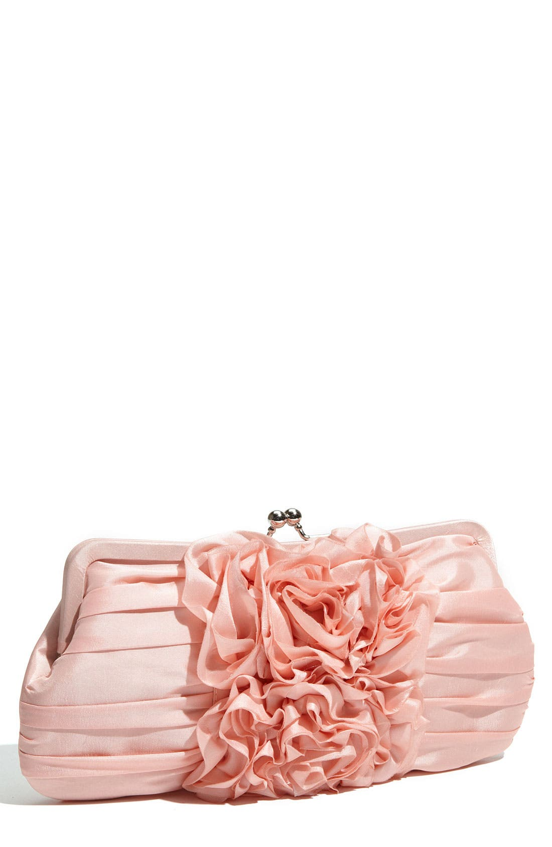 Alternate Image 1 Selected - Expressions NYC 'Silk Roses' Kisslock Frame Clutch