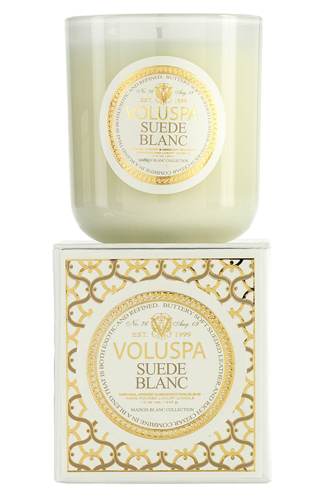 Main Image - Voluspa 'Maison Blanc - Suede Blanc' Boxed Candle