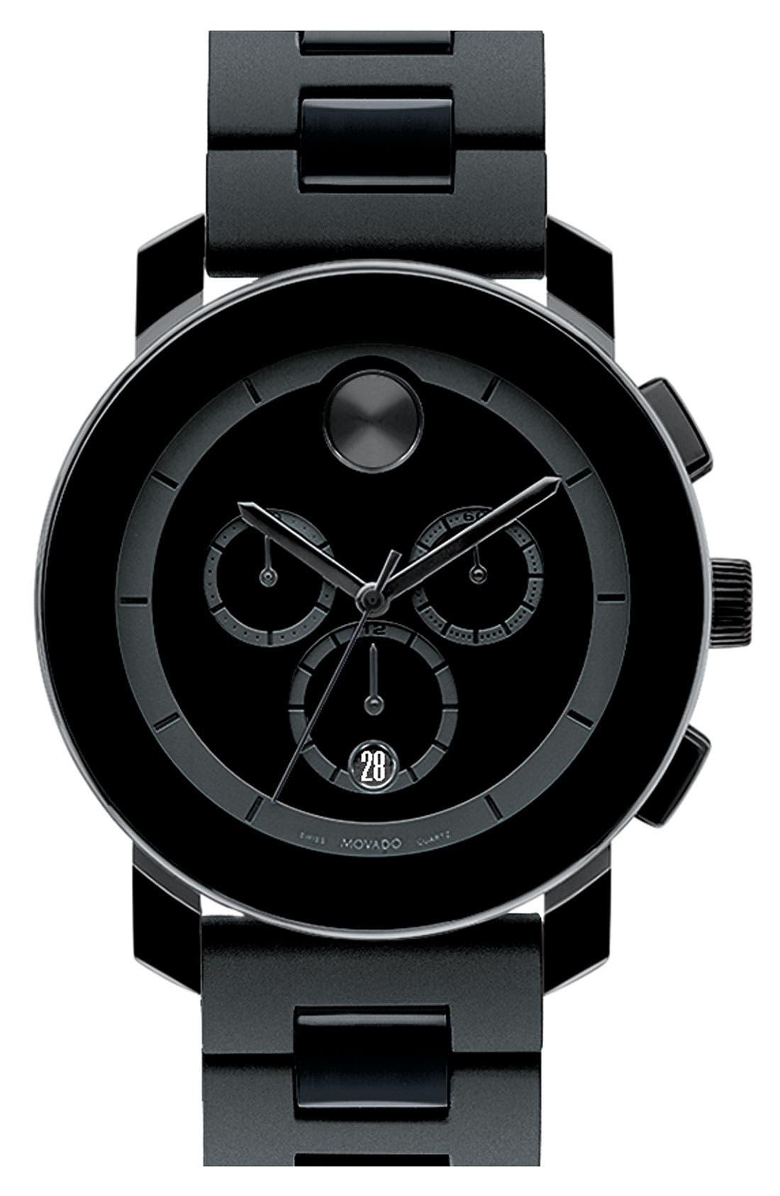 'Bold Chrono' Bracelet Watch, 43mm,                             Main thumbnail 1, color,                             Black