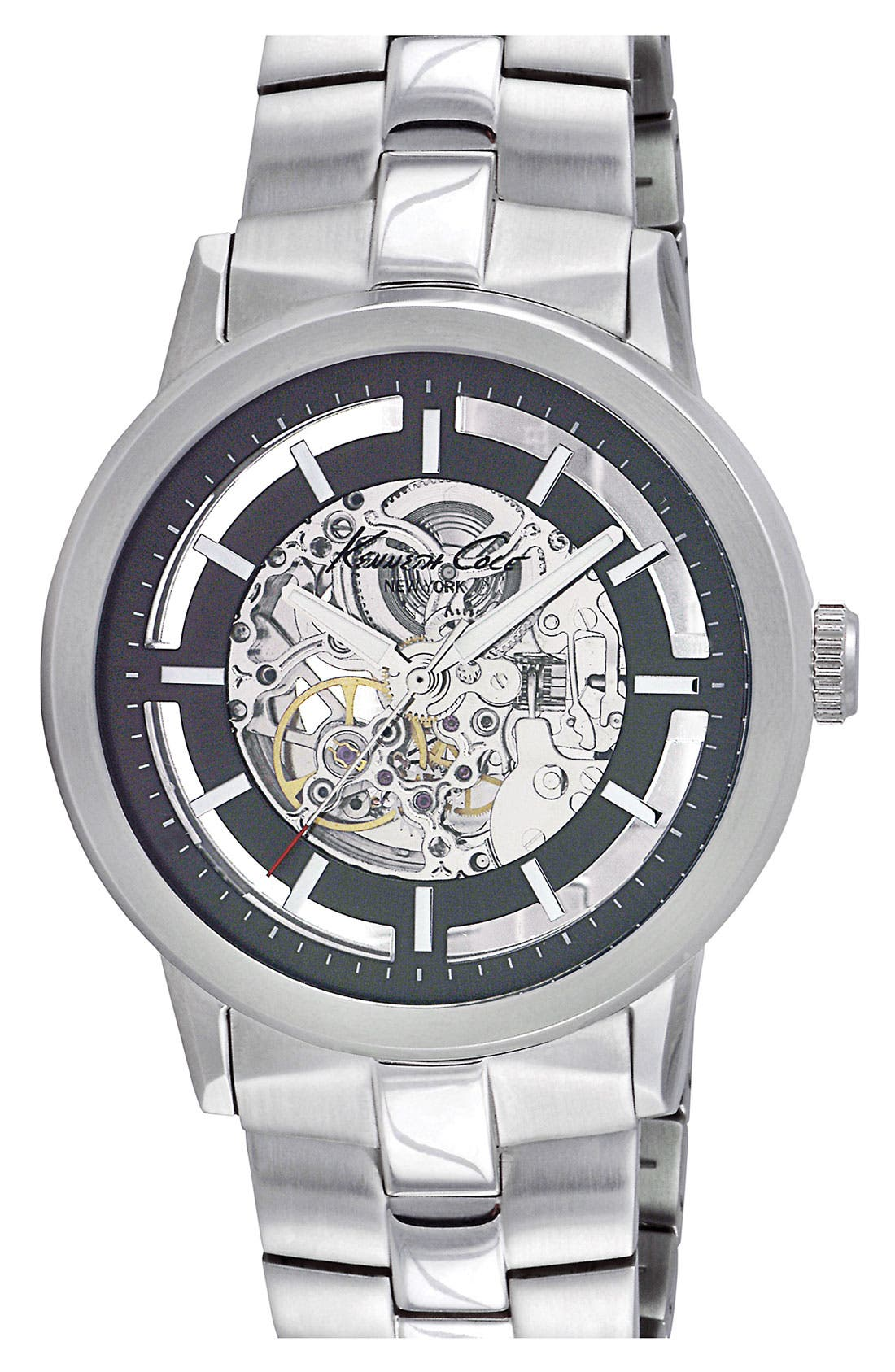 Alternate Image 1 Selected - Kenneth Cole New York Automatic Bracelet Watch, 46mm