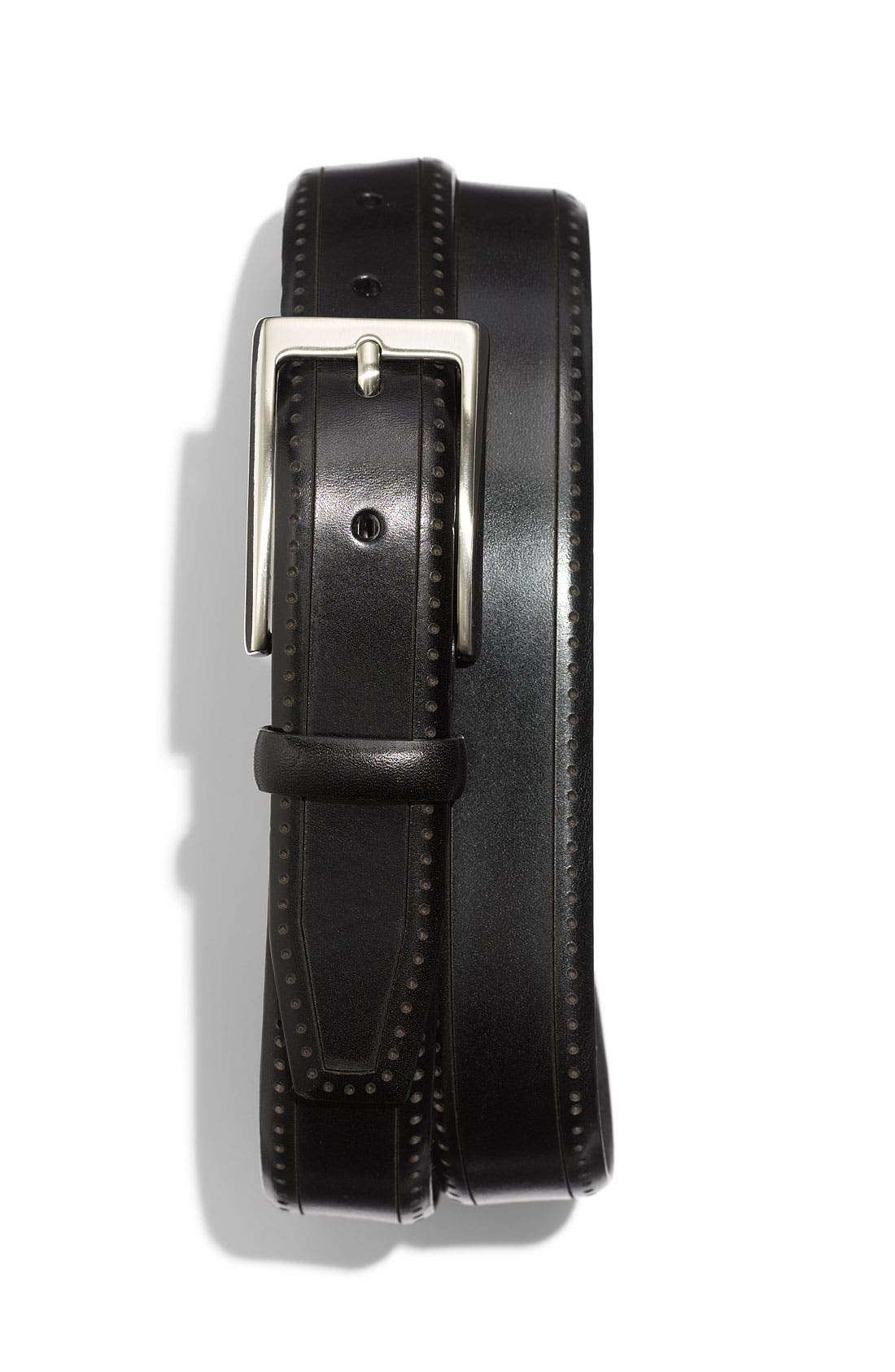 Alternate Image 1 Selected - John W. Nordstrom® Perforated Leather Belt