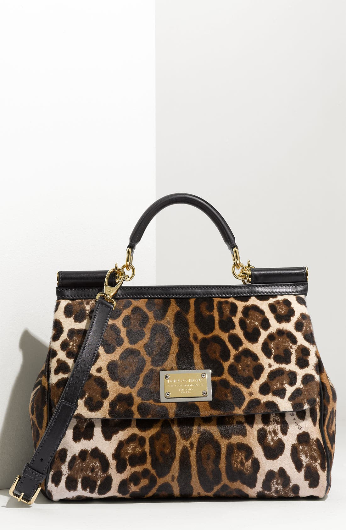 Main Image - Dolce&Gabbana 'Miss Sicily' Leopard Print Satchel