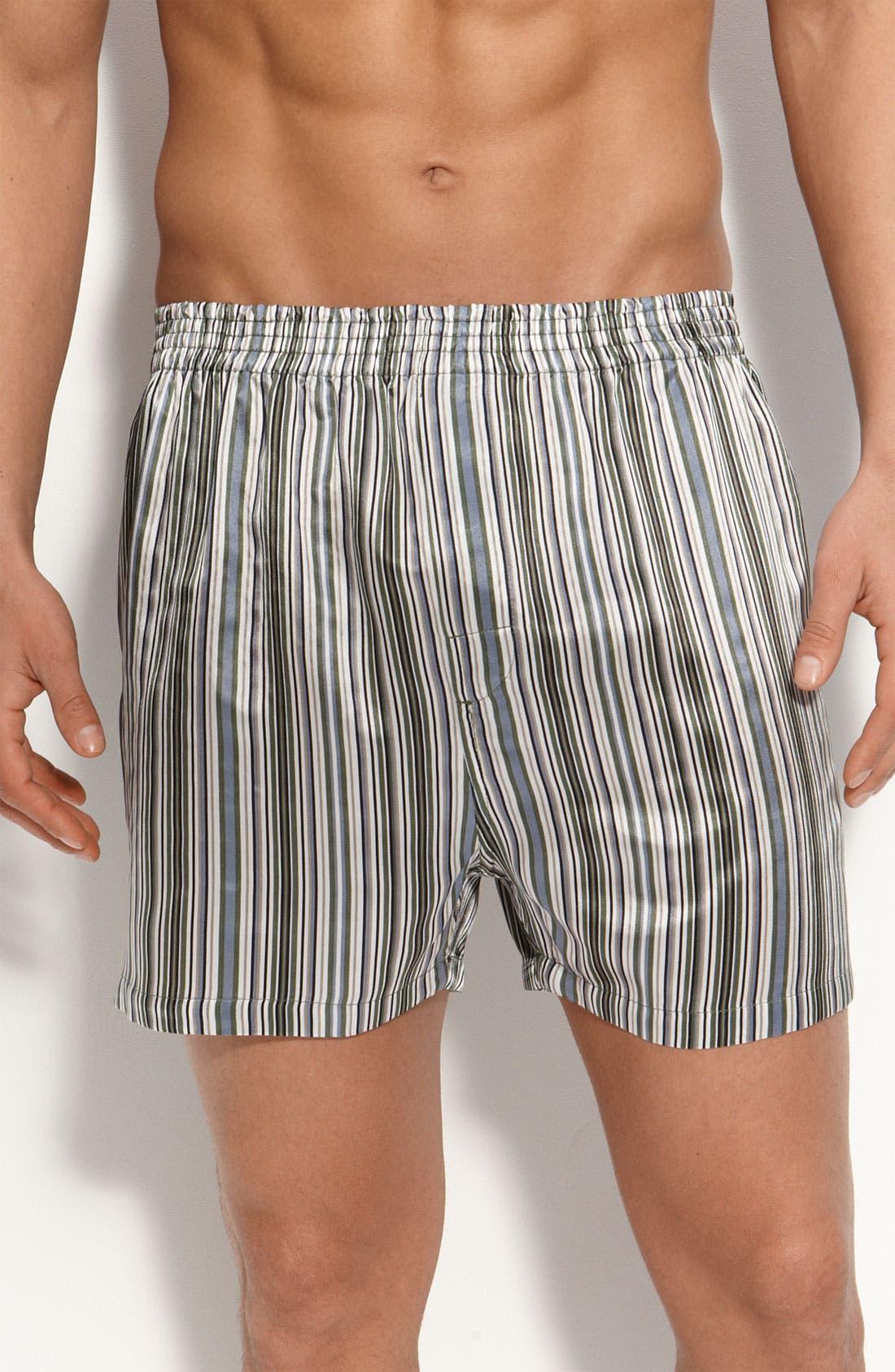 Main Image - Majestic International 'Anderson's' Silk Boxer Shorts
