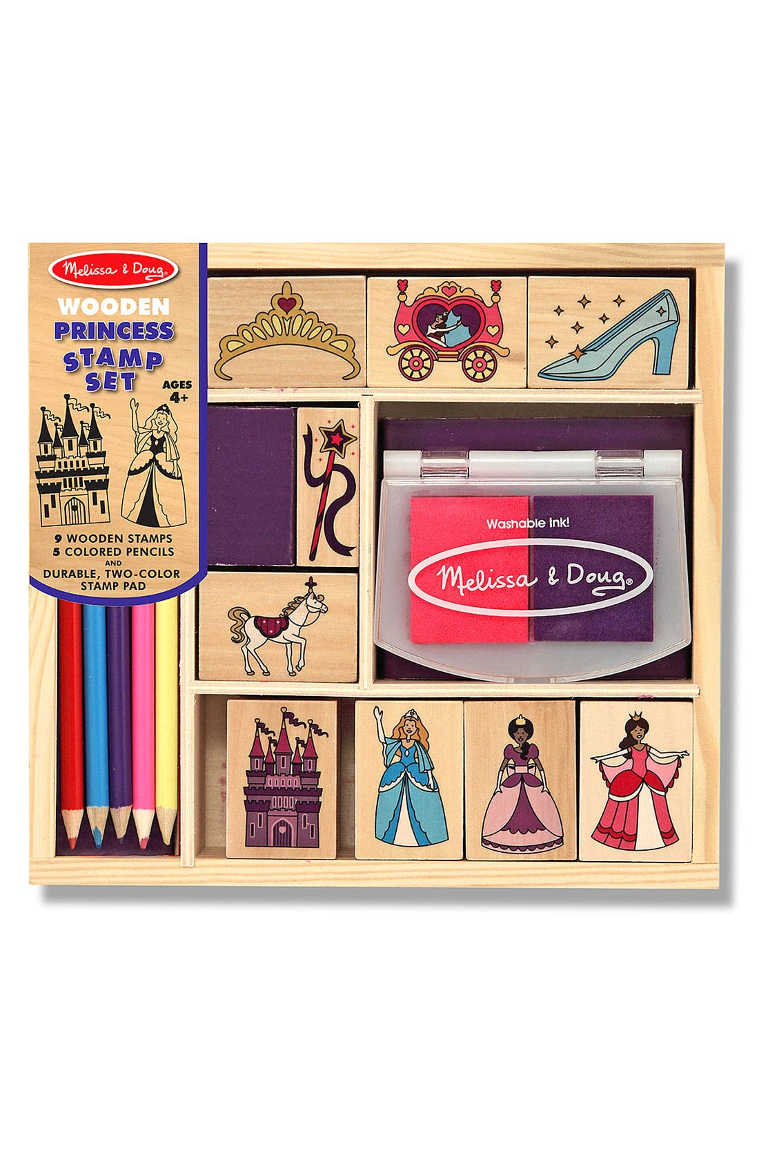 Alternate Image 1 Selected - Melissa & Doug Princess Stamp Set