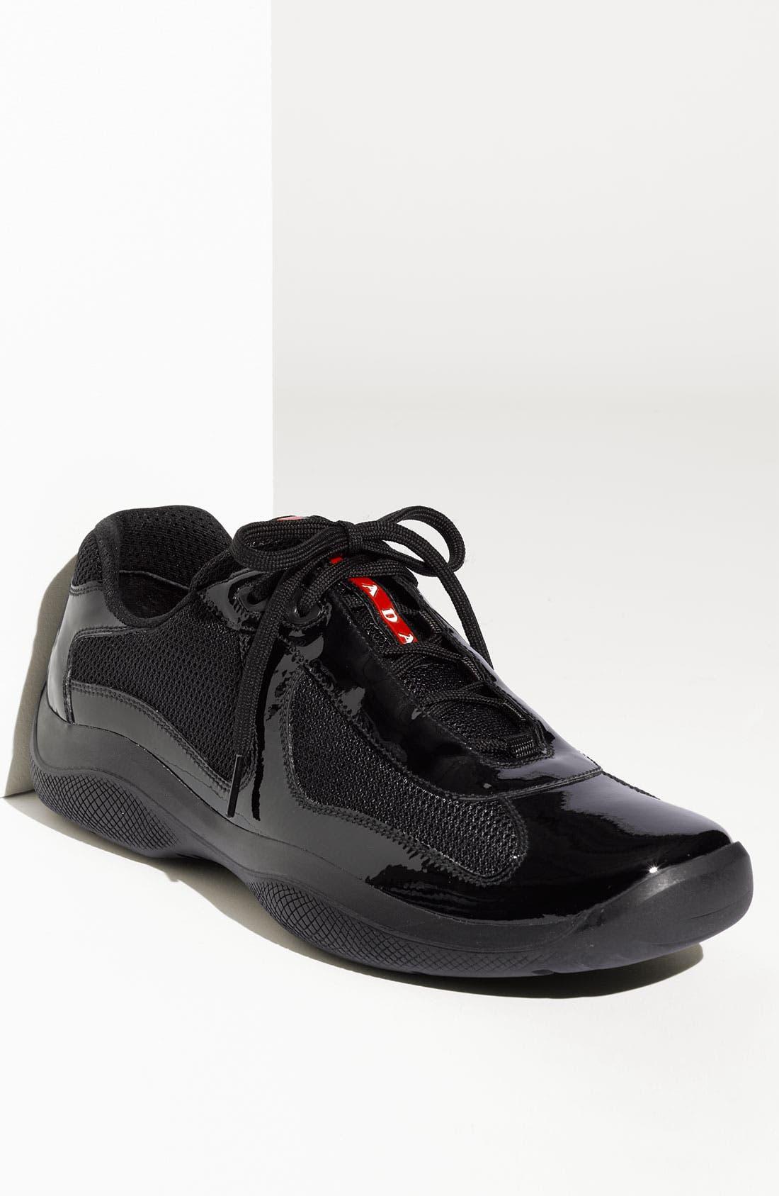 Alternate Image 1 Selected - Prada 'America's Cup' Mesh & Leather Sneaker (Men)