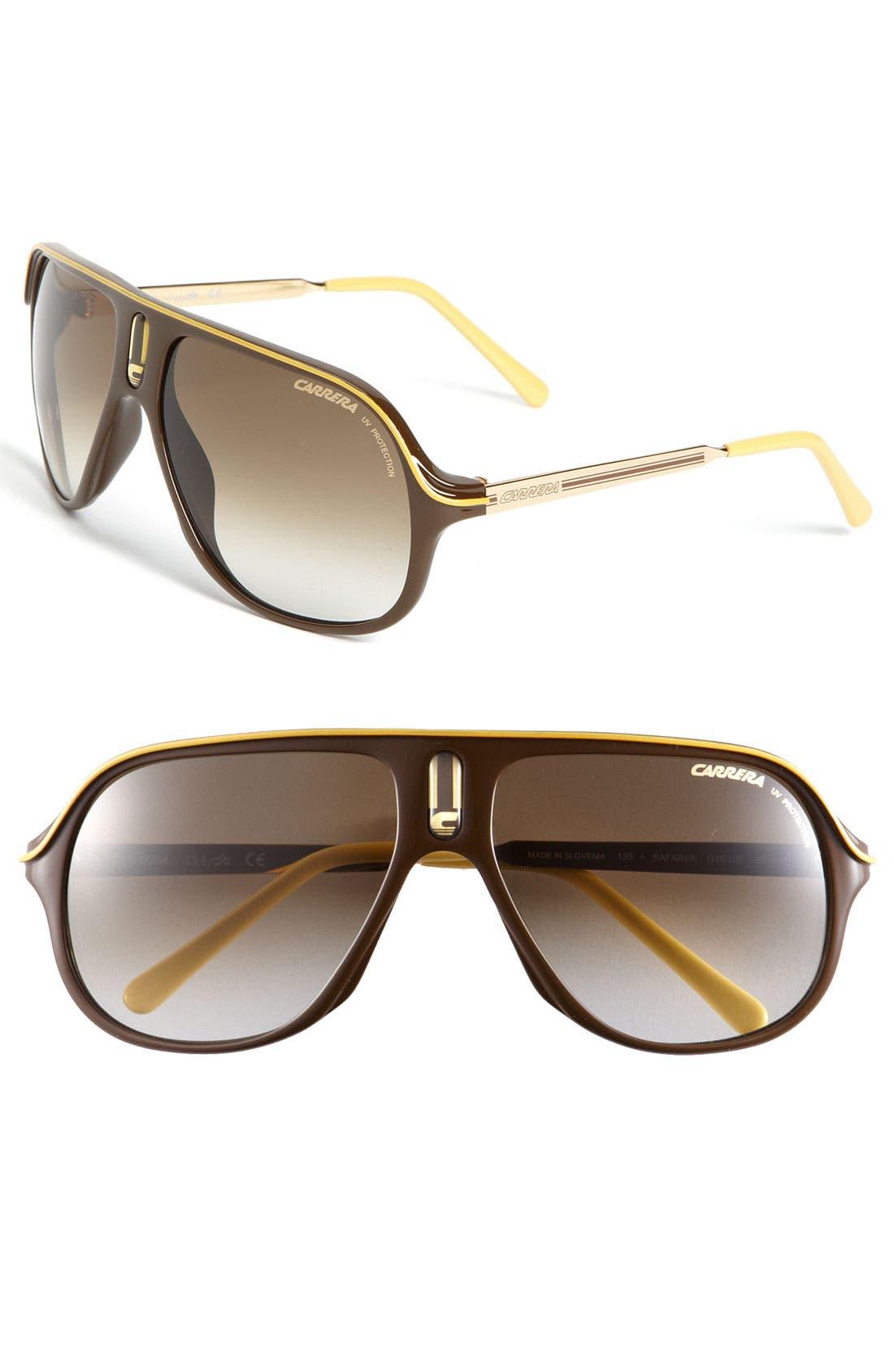 Alternate Image 1 Selected - Carrera Eyewear 'Safari' Polarized Aviator Sunglasses