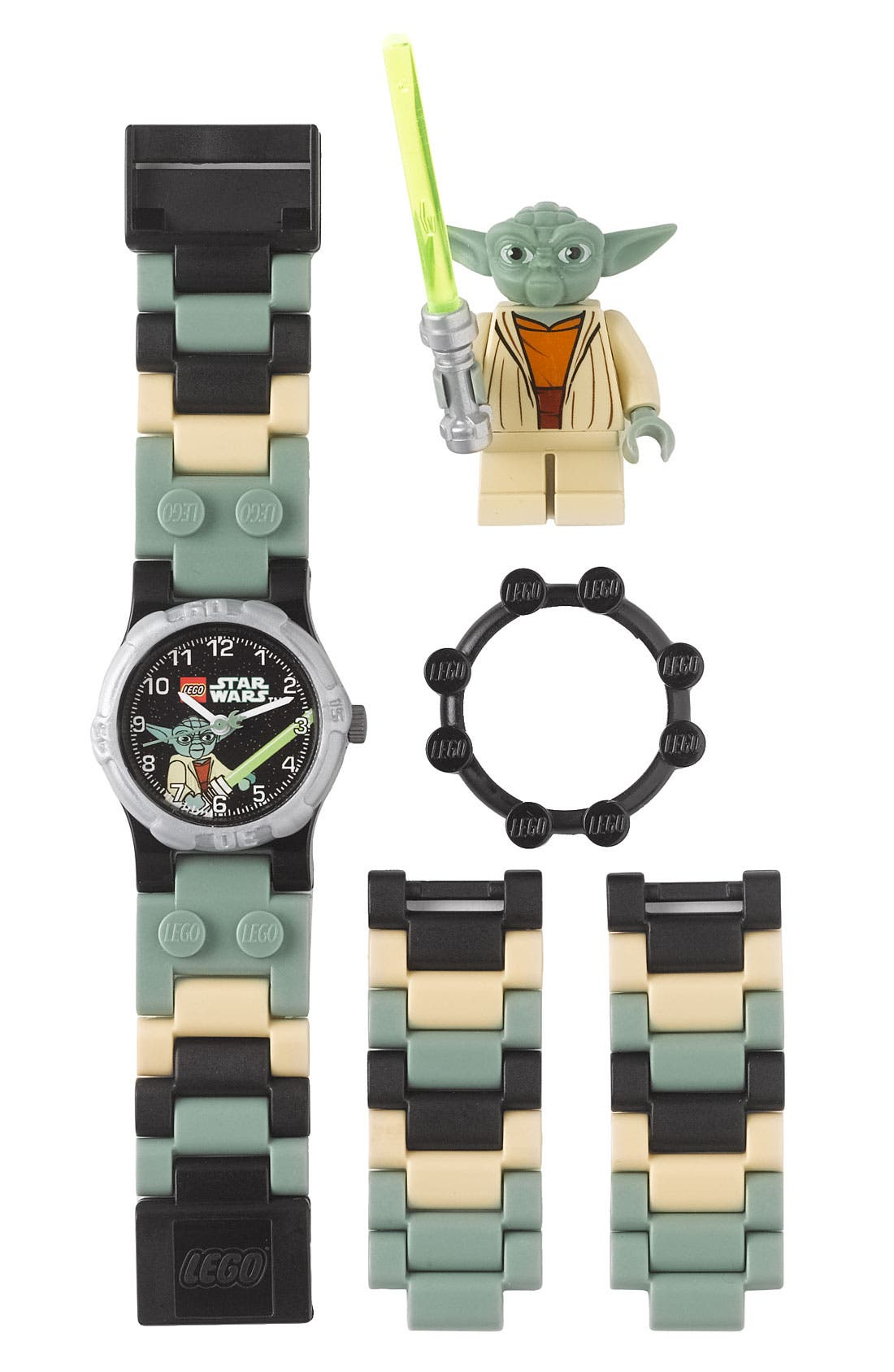 Alternate Image 1 Selected - LEGO® 'Yoda™' Character Watch & Toy (Boys)