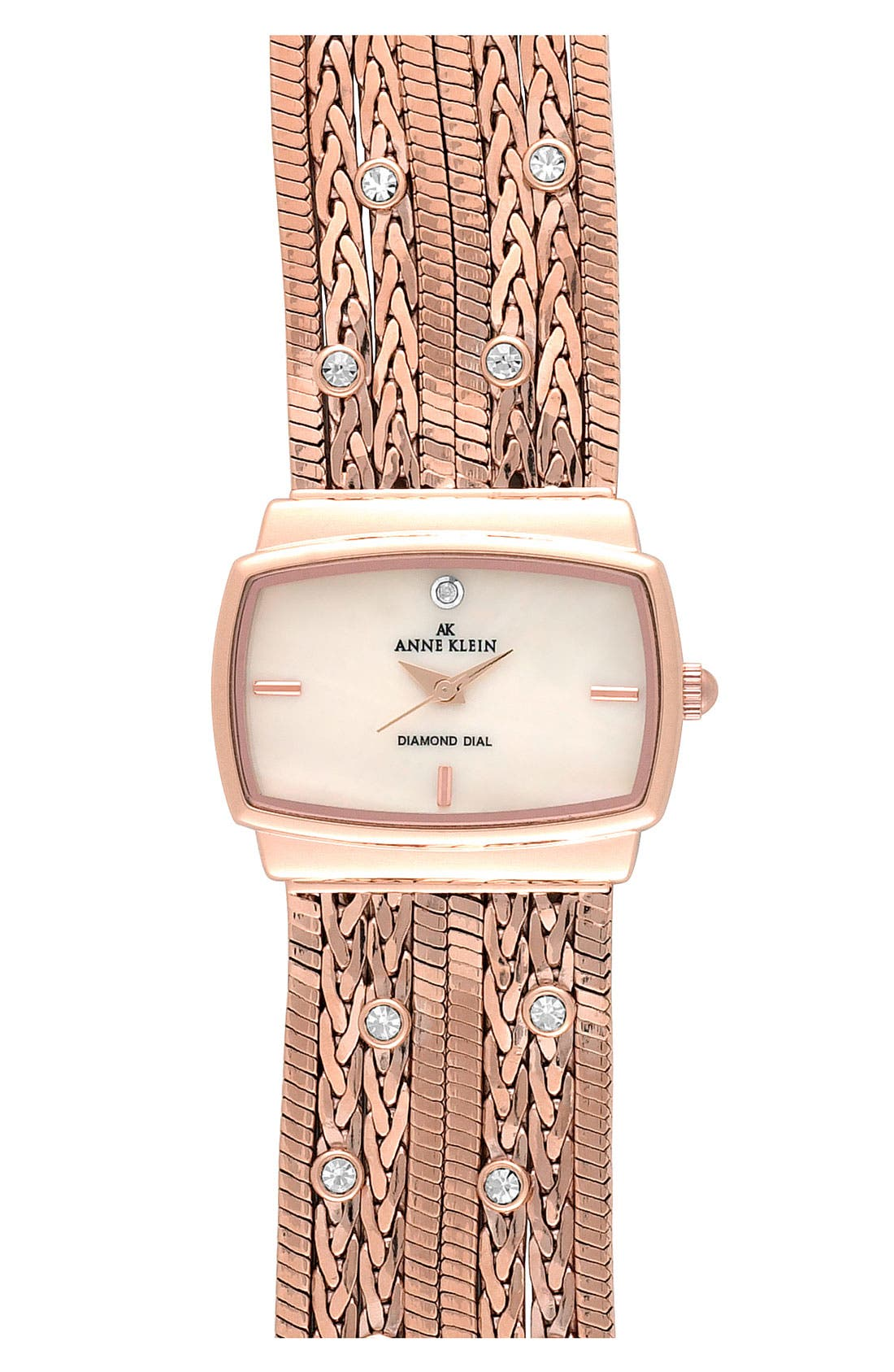 Alternate Image 1 Selected - Anne Klein Single Diamond Bracelet Watch