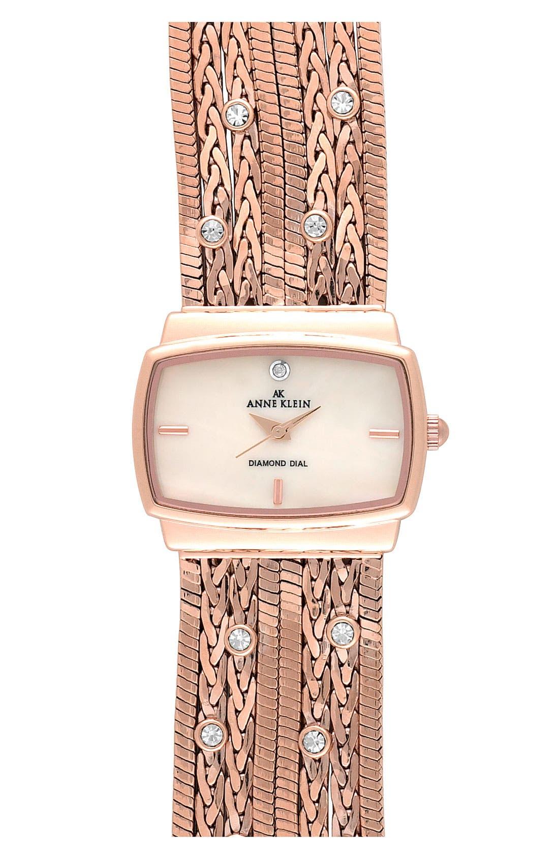 Main Image - Anne Klein Single Diamond Bracelet Watch