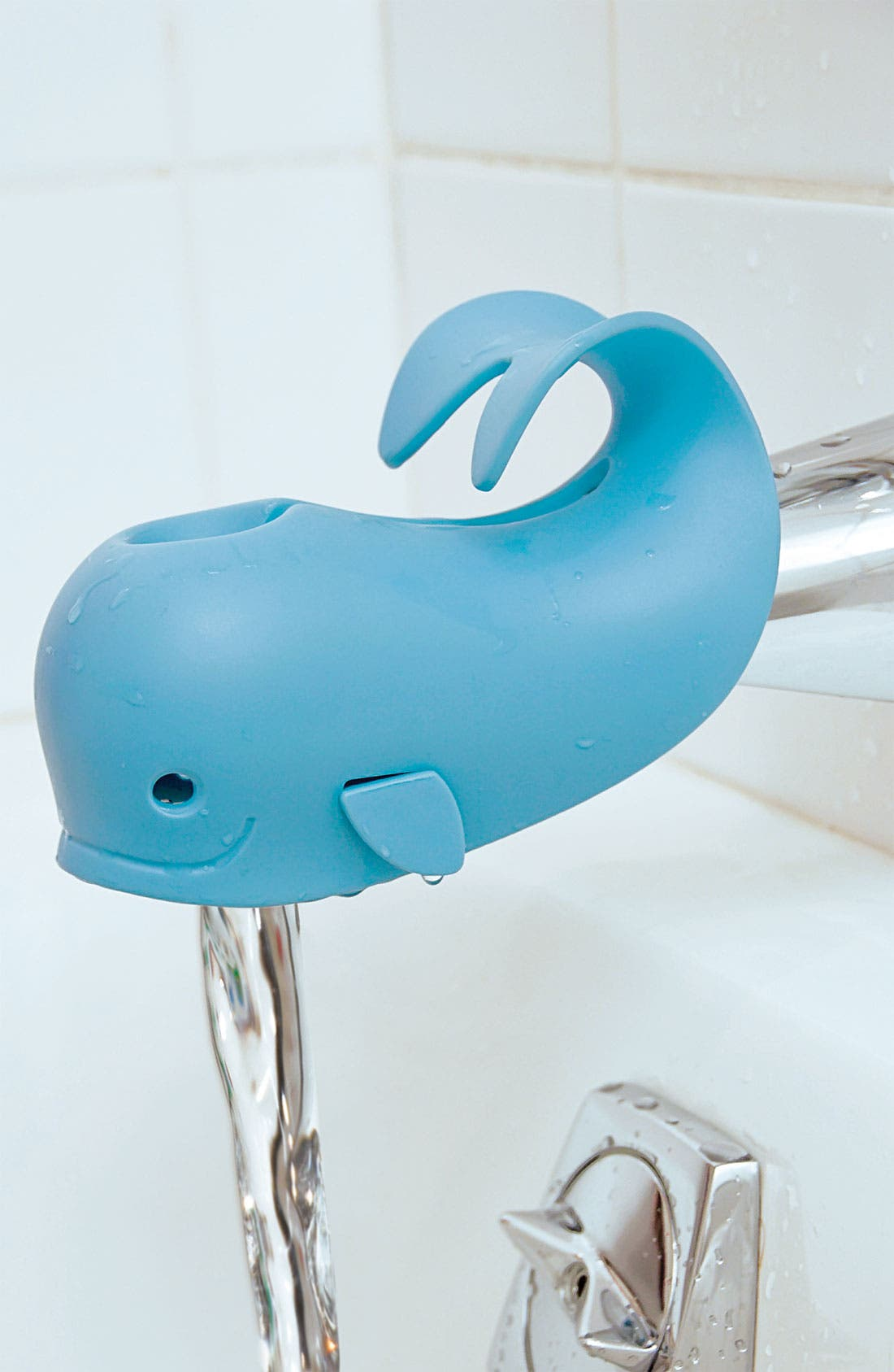 'Moby' Bath Spout Cover,                             Alternate thumbnail 2, color,                             Sky Blue