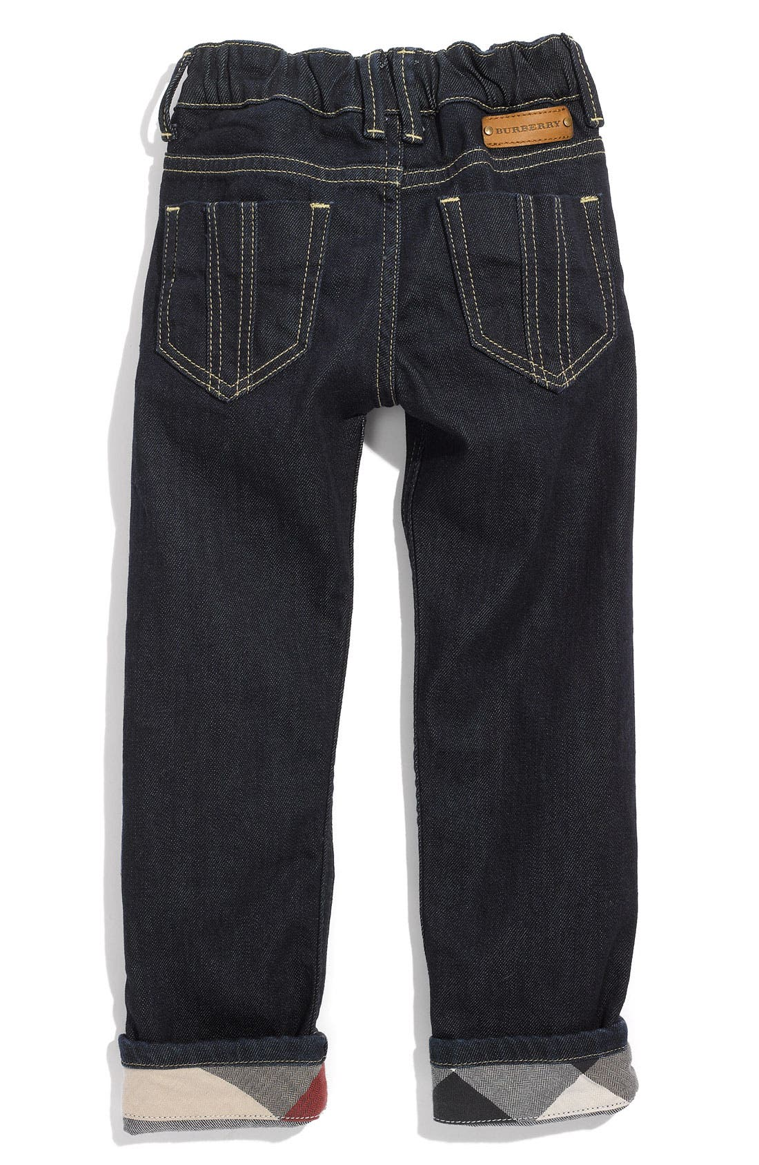 Main Image - Burberry Cuff Jeans (Toddler)