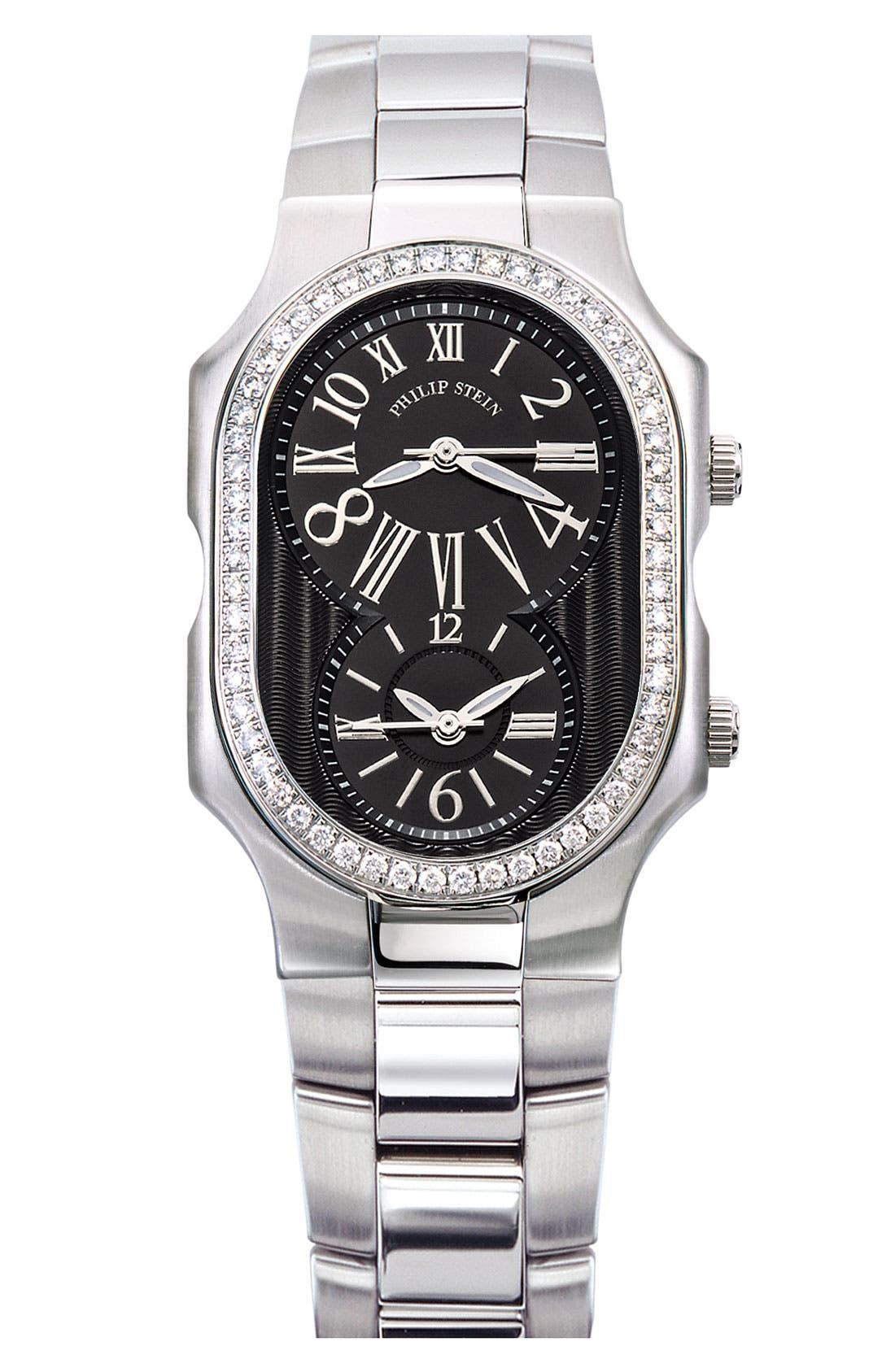 Alternate Image 2  - Philip Stein® 18mm Stainless Steel Watch Bracelet