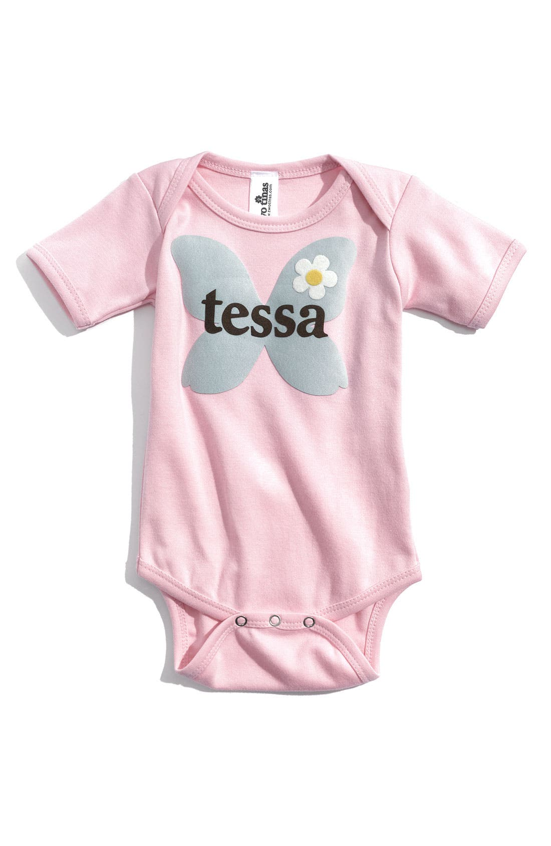 Alternate Image 1 Selected - Two Tinas 'Little Friends' Personalized Bodysuit (Baby)
