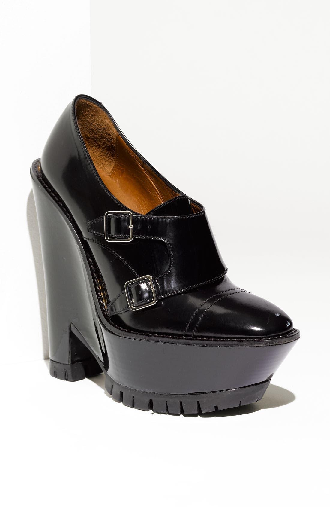 Wedge Heel Bootie,                             Main thumbnail 1, color,                             Black