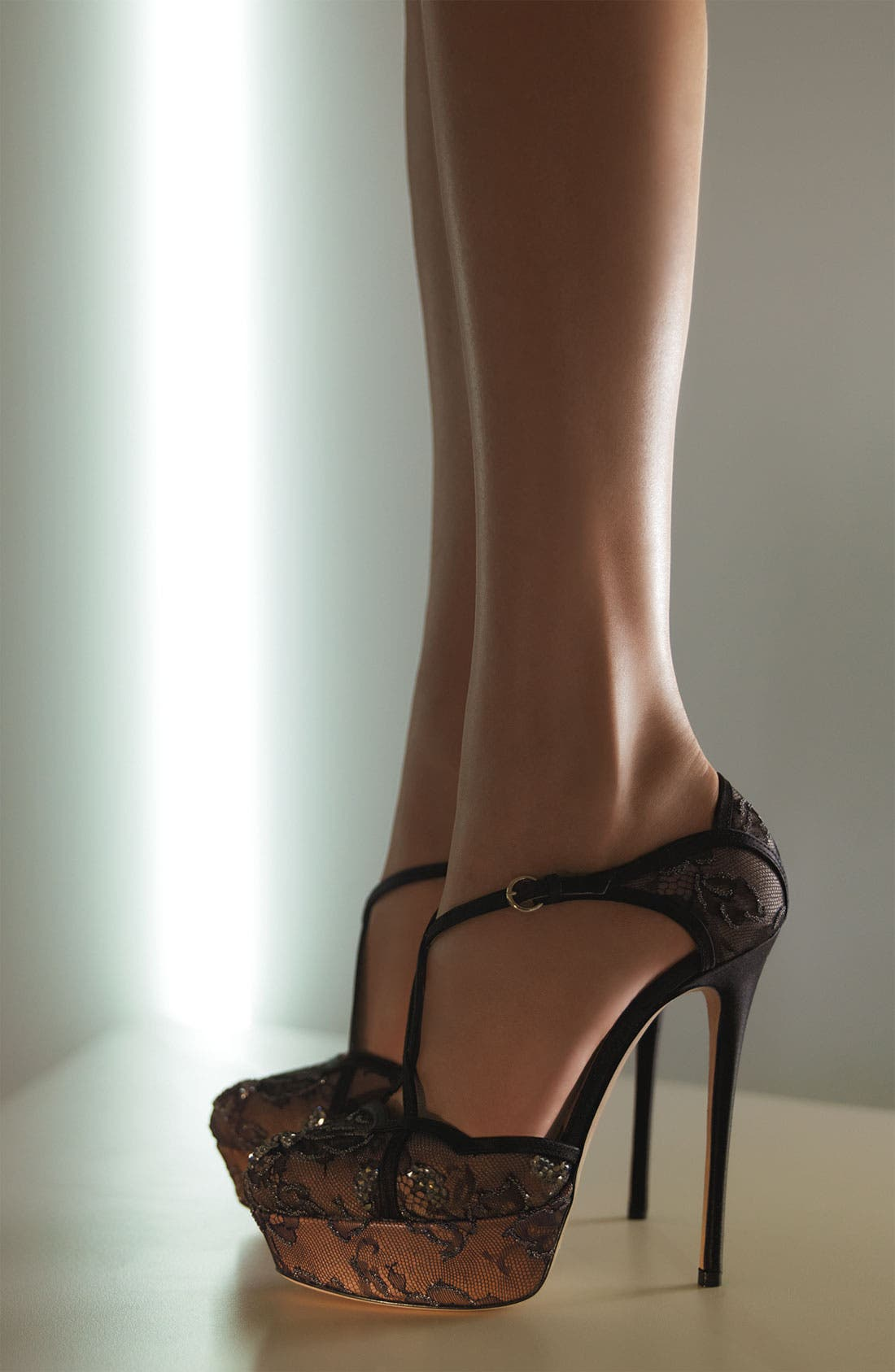Alternate Image 4  - VALENTINO GARAVANI Crystal Embellished Lace Sandal