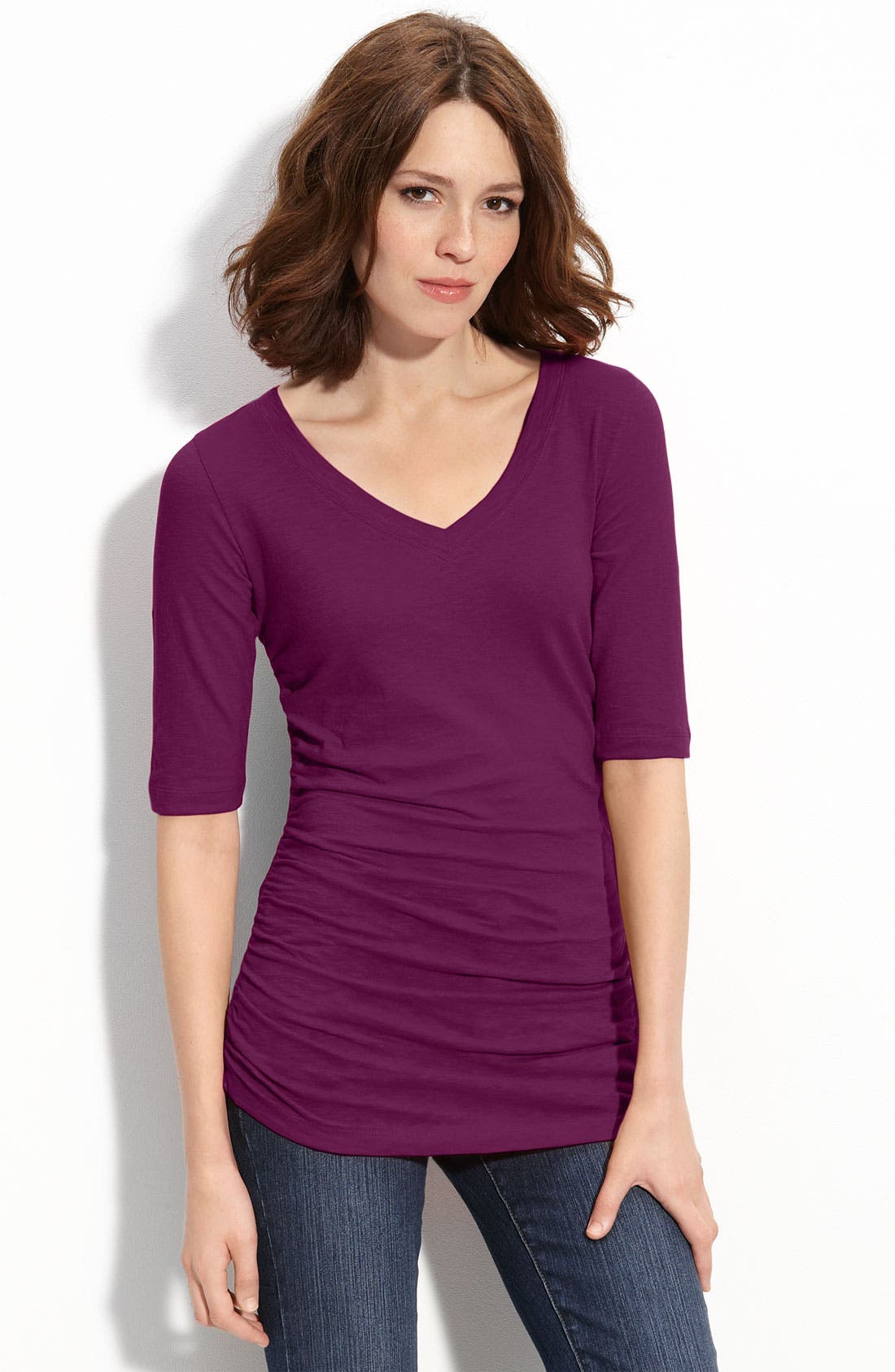 Alternate Image 1 Selected - Caslon® Ruched Side Tee