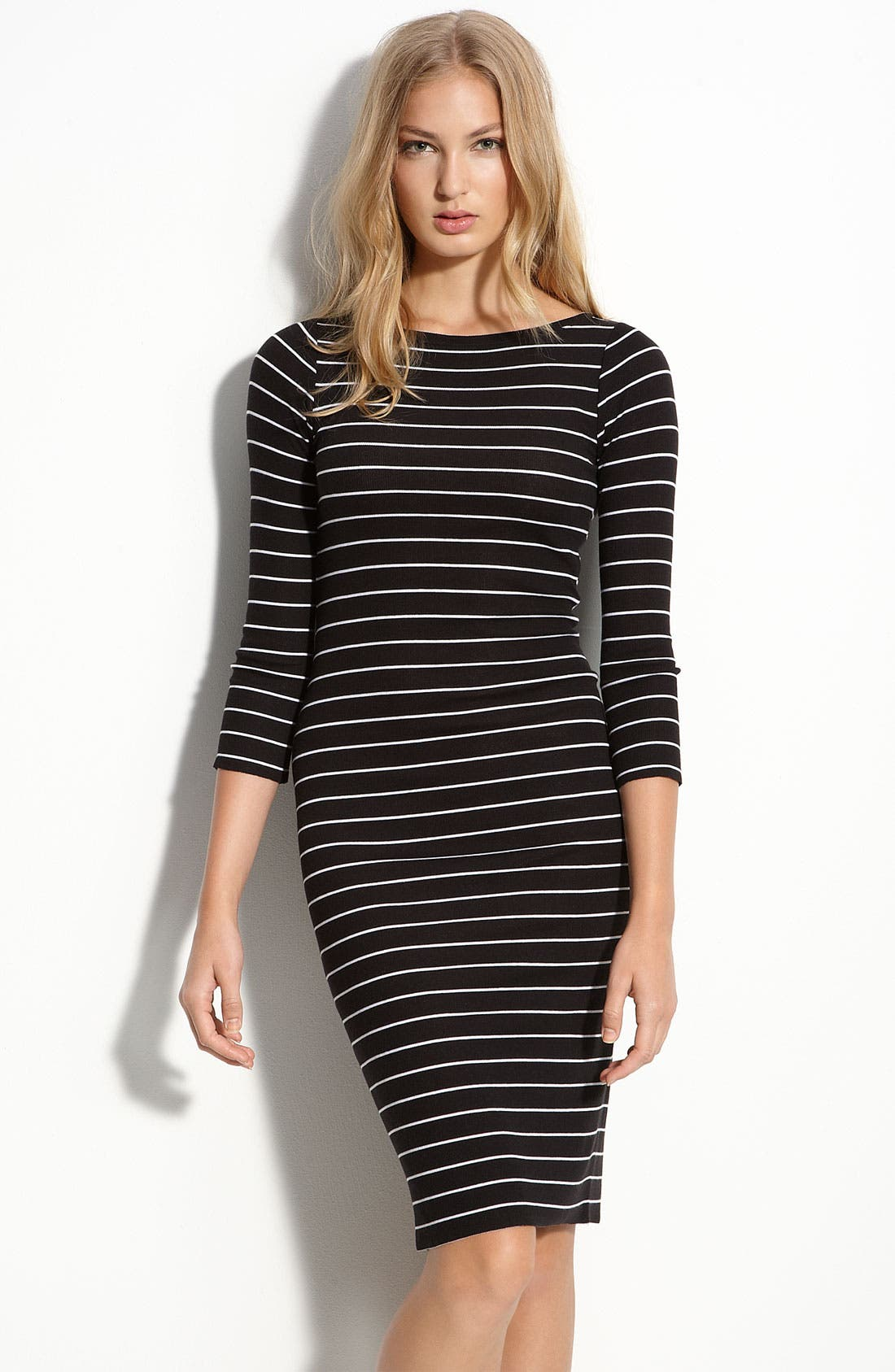 Alternate Image 1 Selected - BCBGMAXAZRIA Striped Knit Dress