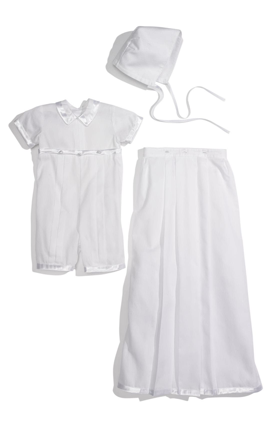 Alternate Image 2  - Kissy Kissy Convertible Christening Gown Set (Infant)