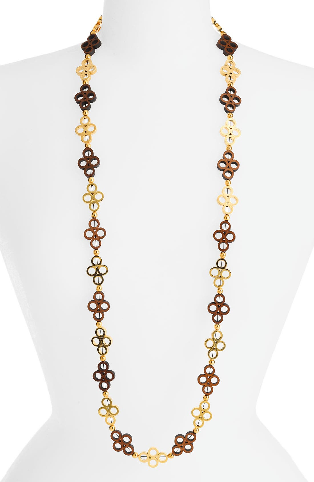 Alternate Image 1 Selected - Tory Burch Clover Link Necklace