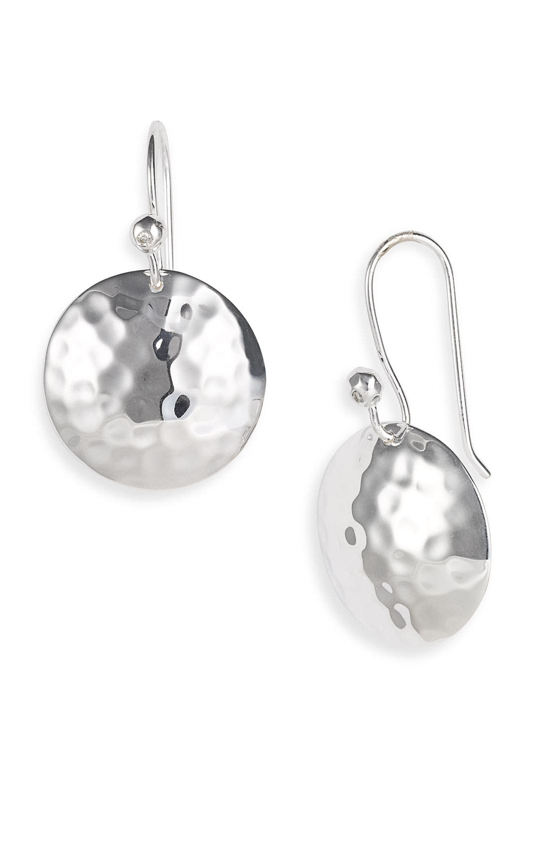 IPPOLITA Diamond & Hammered Dome Earrings