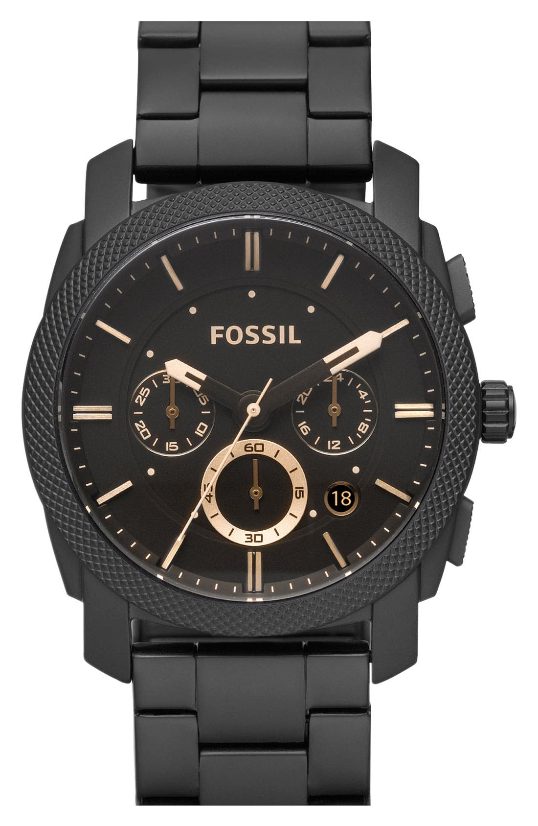 Alternate Image 1 Selected - Fossil 'Machine' Chronograph Bracelet Watch, 42mm