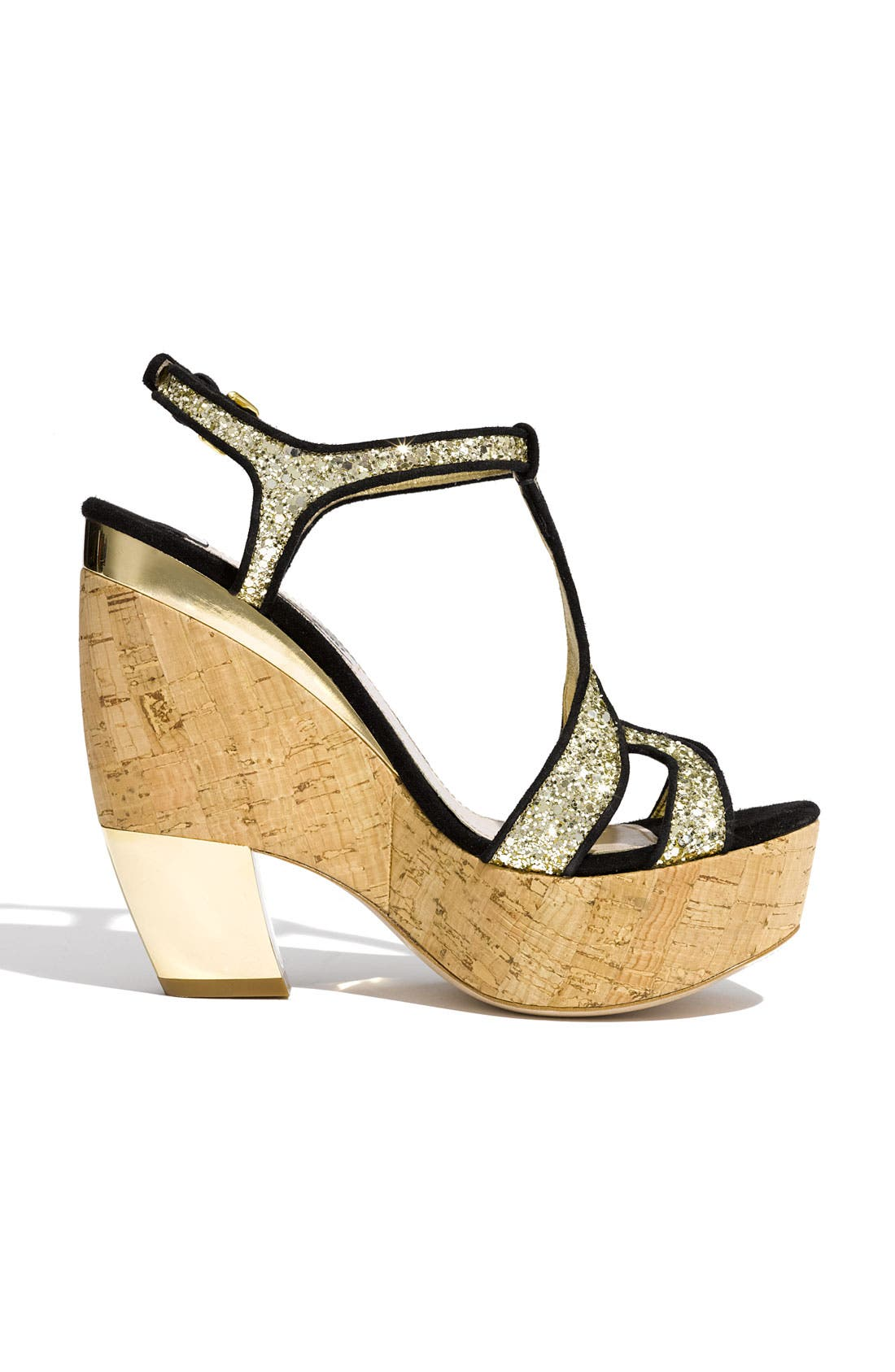 Alternate Image 2  - Miu Miu Glitter Wedge Platform Sandal