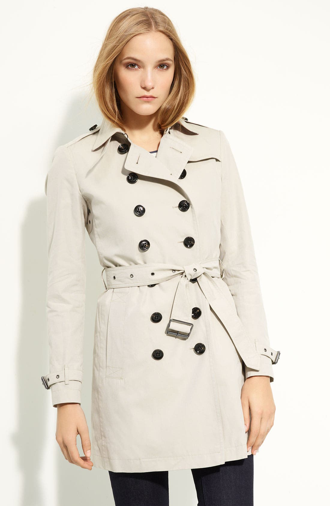 Alternate Image 1 Selected - Burberry Brit 'Crombrook' Trench Coat