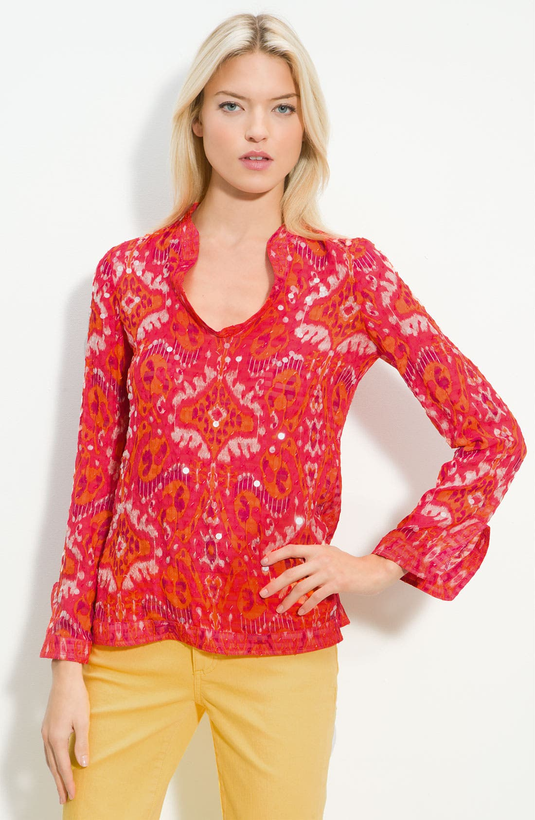 Main Image - Tory Burch 'Stephanie' Embellished Tunic