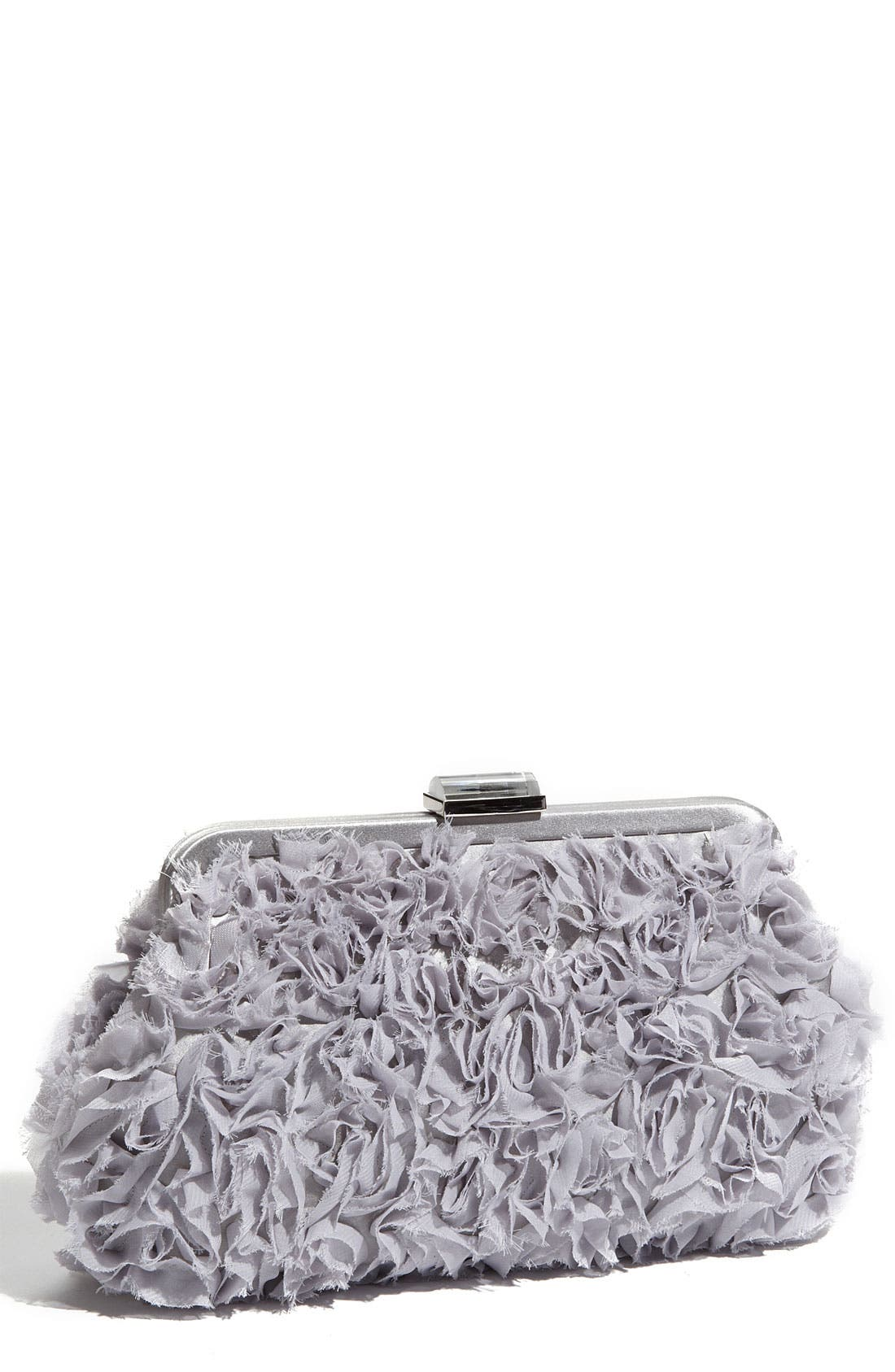 Alternate Image 1 Selected - Franchi 'Evita' Ruffle Frame Clutch