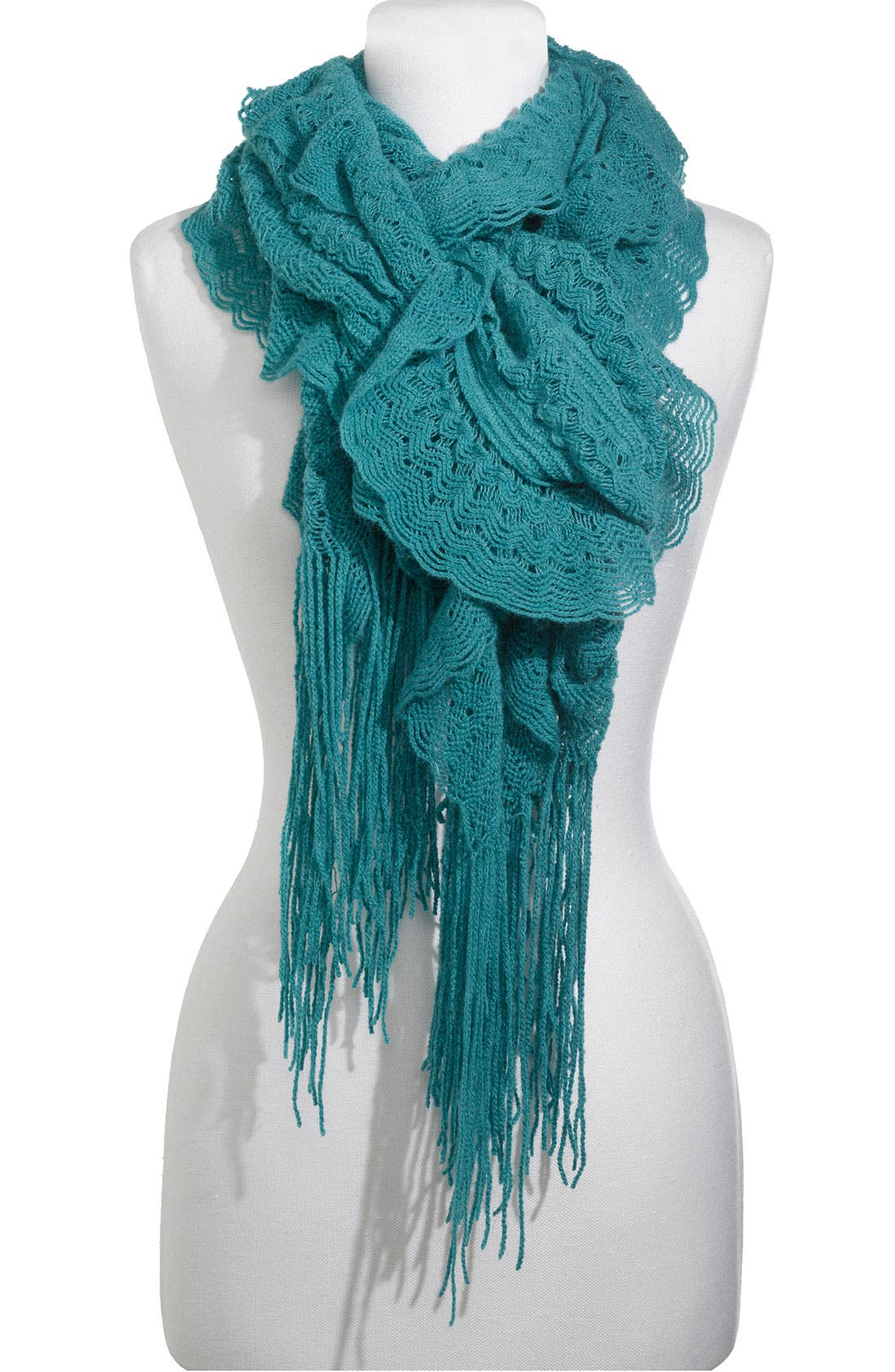 Alternate Image 1 Selected - Frenchi® Ruffled Pointelle Scarf