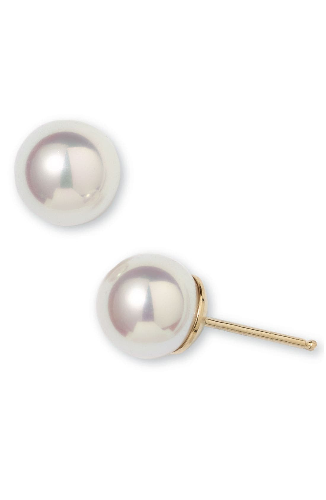 Majorica Round Simulated Pearl Stud Earrings