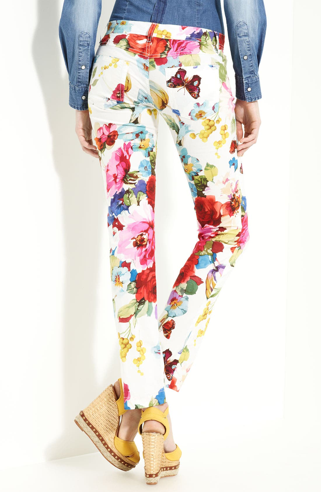 Alternate Image 2  - Dolce&Gabbana Print Stretch Cotton Pants