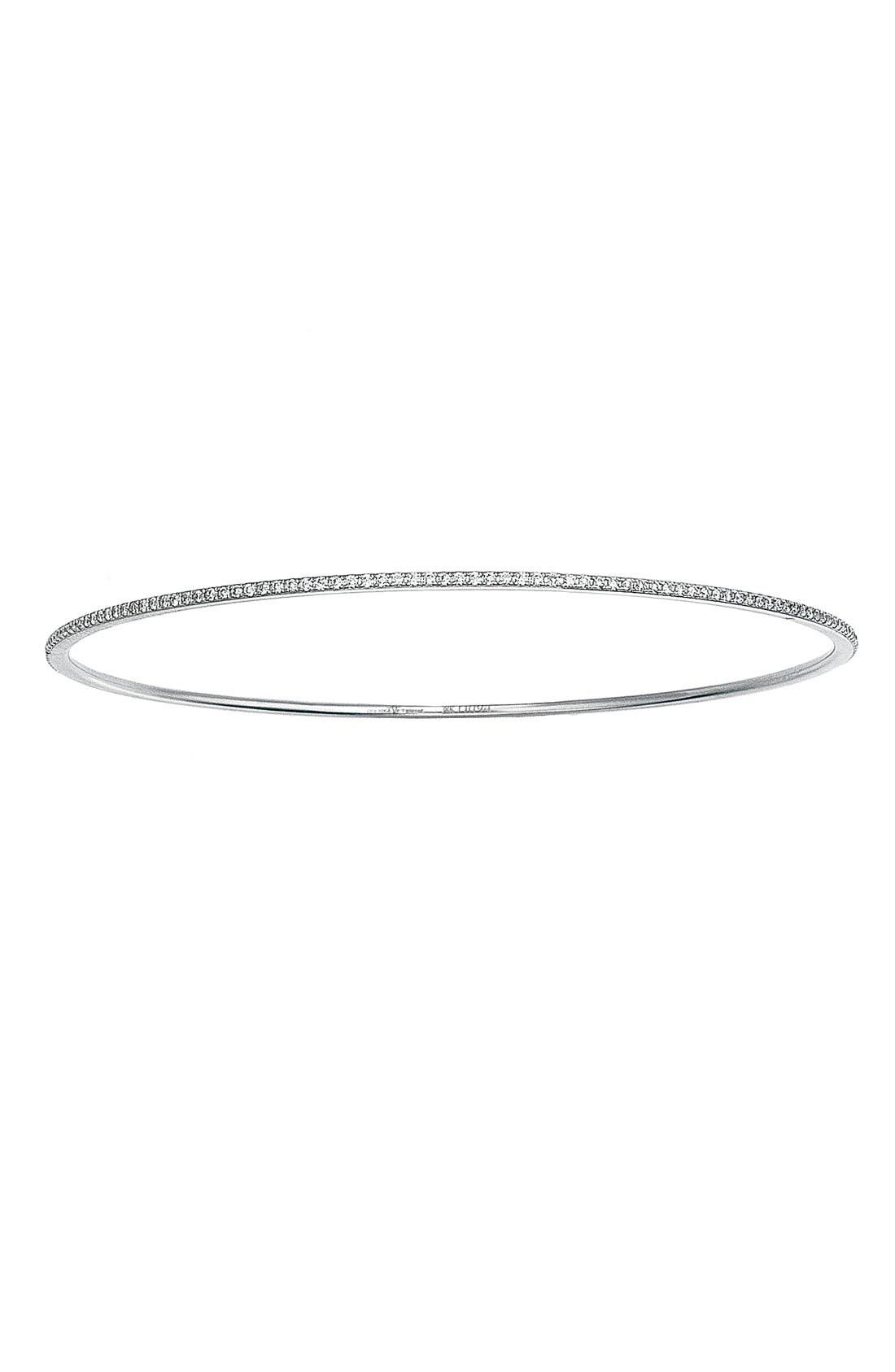 Alternate Image 1 Selected - Ivanka Trump 'Black & White' Thin Diamond Bangle