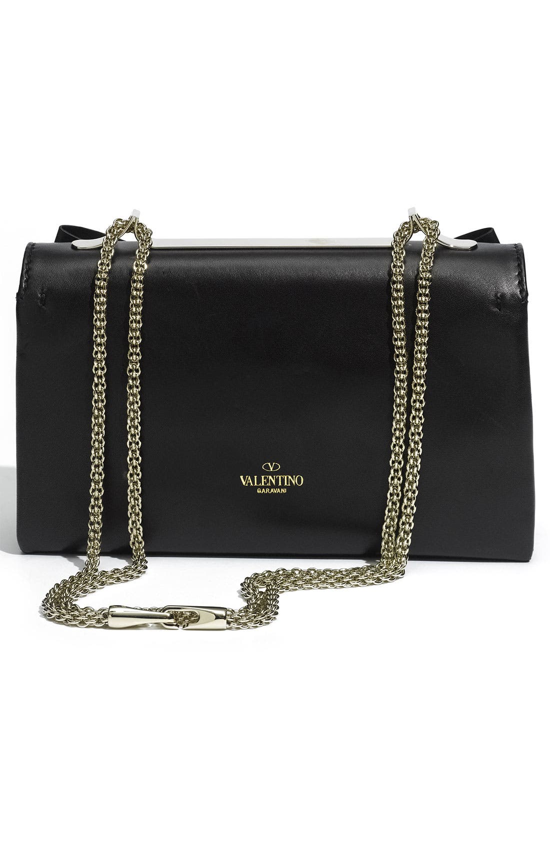 Alternate Image 4  - Valentino 'Bow Flap' Leather Shoulder Bag
