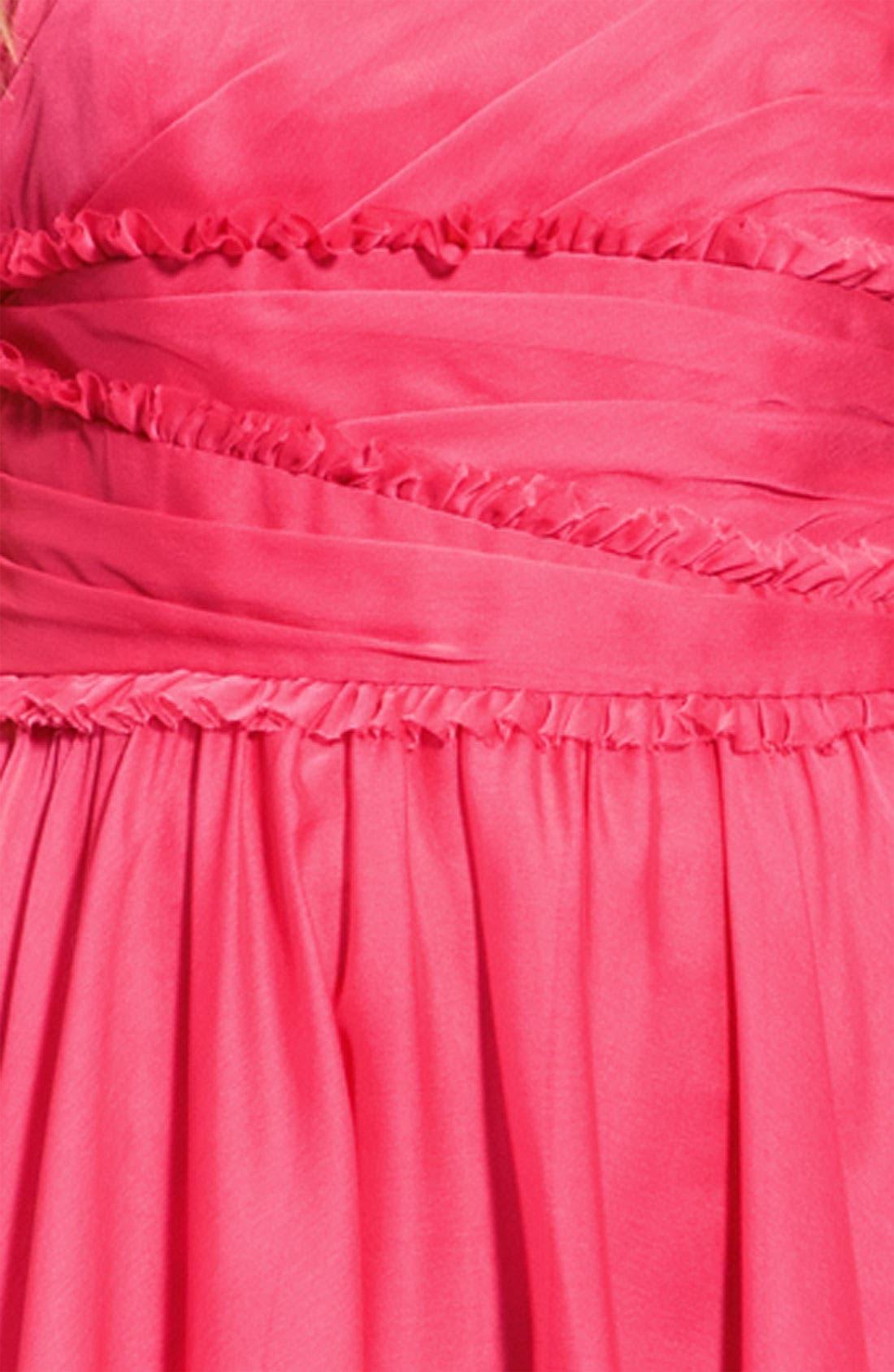 Alternate Image 4  - ML Monique Lhuillier Bridesmaids Ruffle Chiffon Dress (Nordstrom Exclusive)