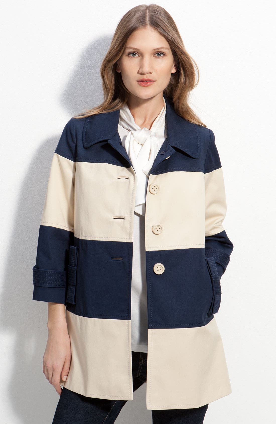 Alternate Image 1 Selected - kate spade new york 'nera' colorblock coat
