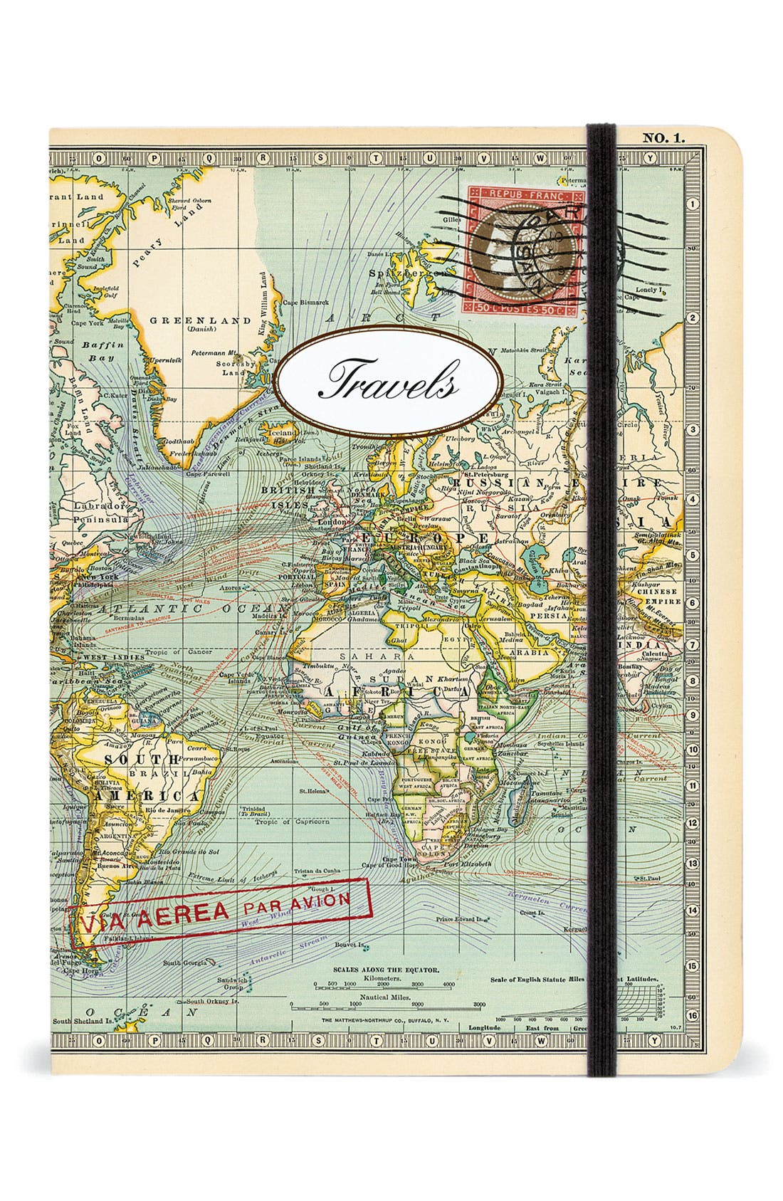 Alternate Image 1 Selected - Cavallini & Co. 'Map' Notebook