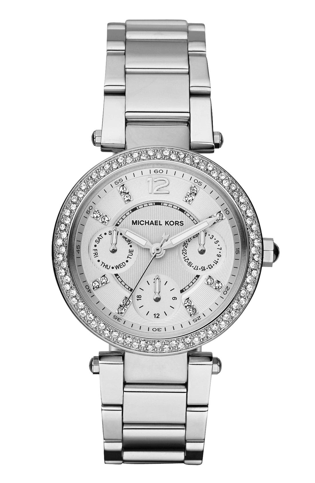 Main Image - Michael Kors 'Parker - Mini' Multifunction Watch, 33mm