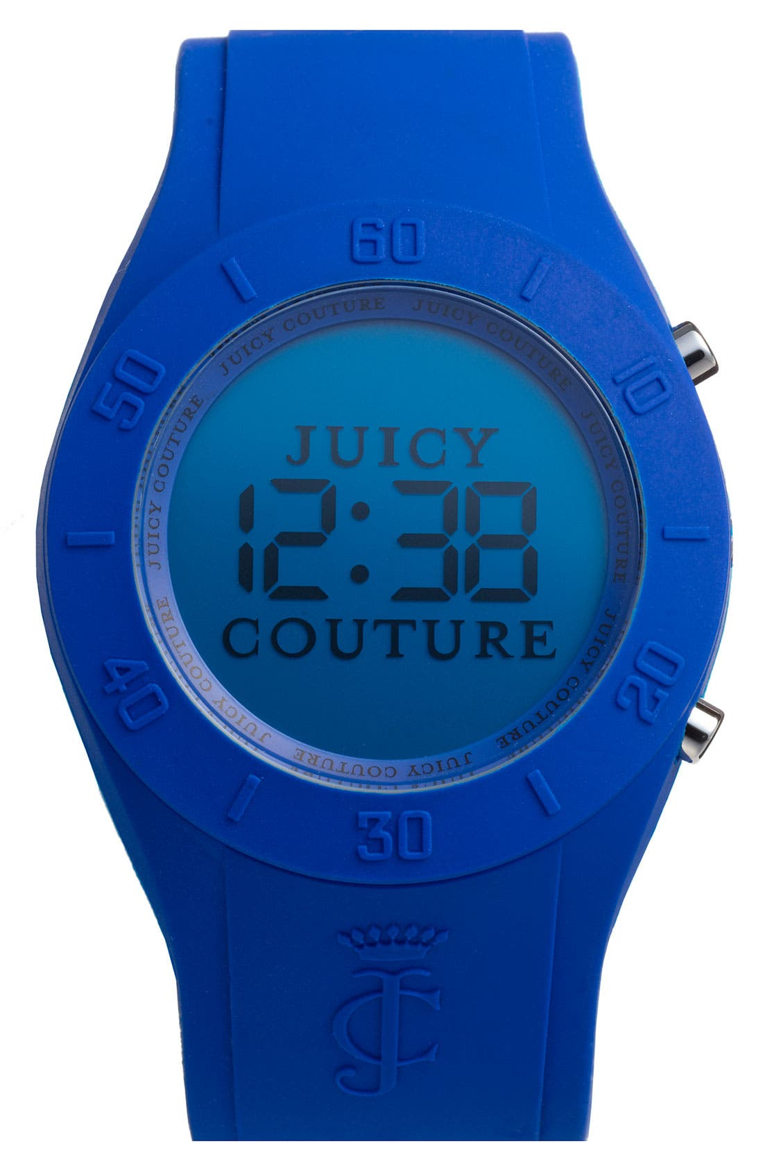 Alternate Image 1 Selected - Juicy Couture 'Sport Couture' Digital Jelly Strap Watch