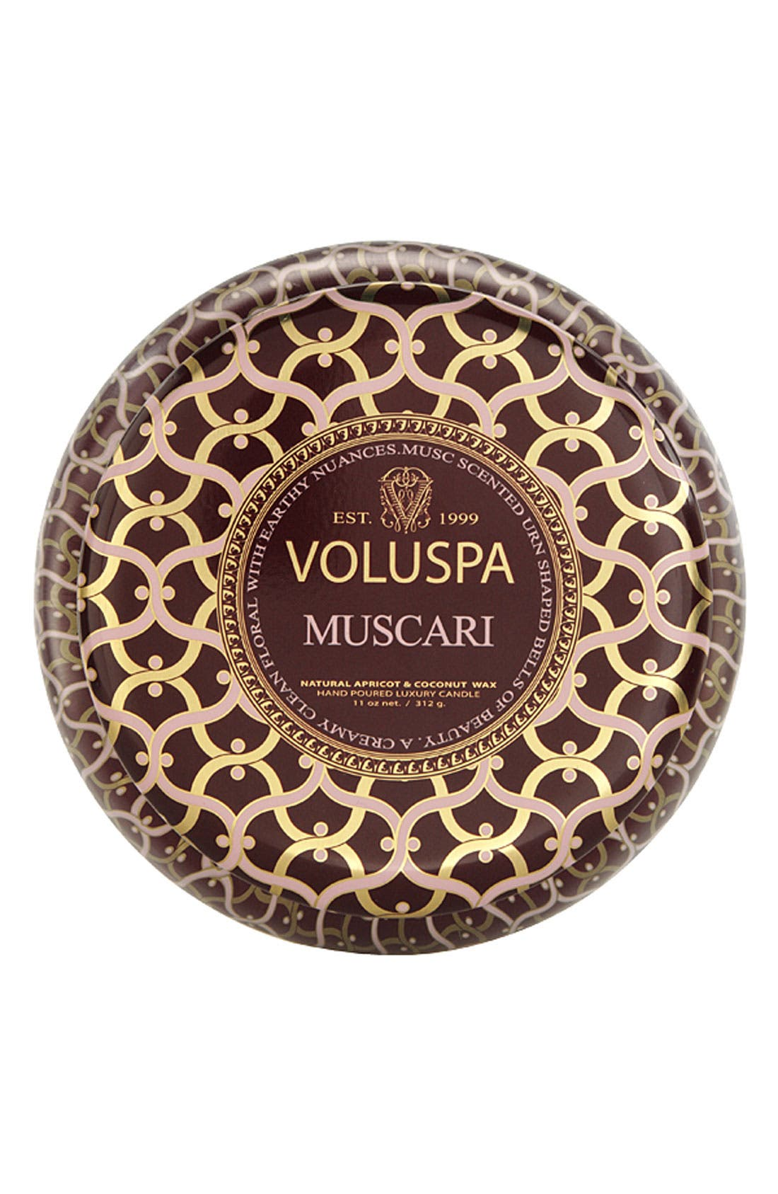 Main Image - Voluspa 'Maison Rouge - Muscari' 2-Wick Scented Candle