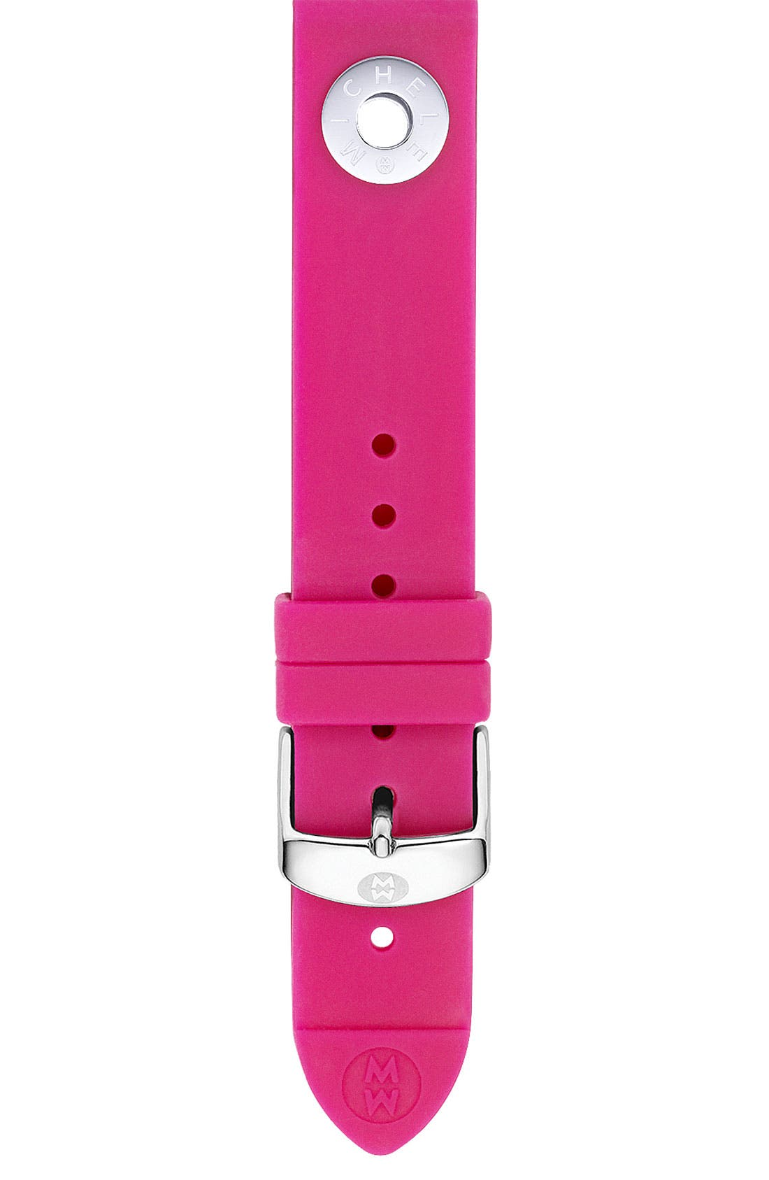 Alternate Image 1 Selected - MICHELE 18mm Silicone Watch Strap
