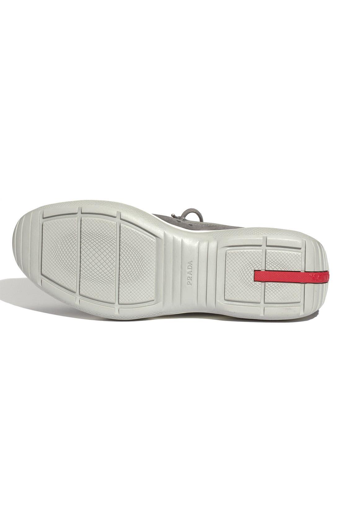 Alternate Image 4  - Prada 'Punta Ala' Suede Sneaker (Men)