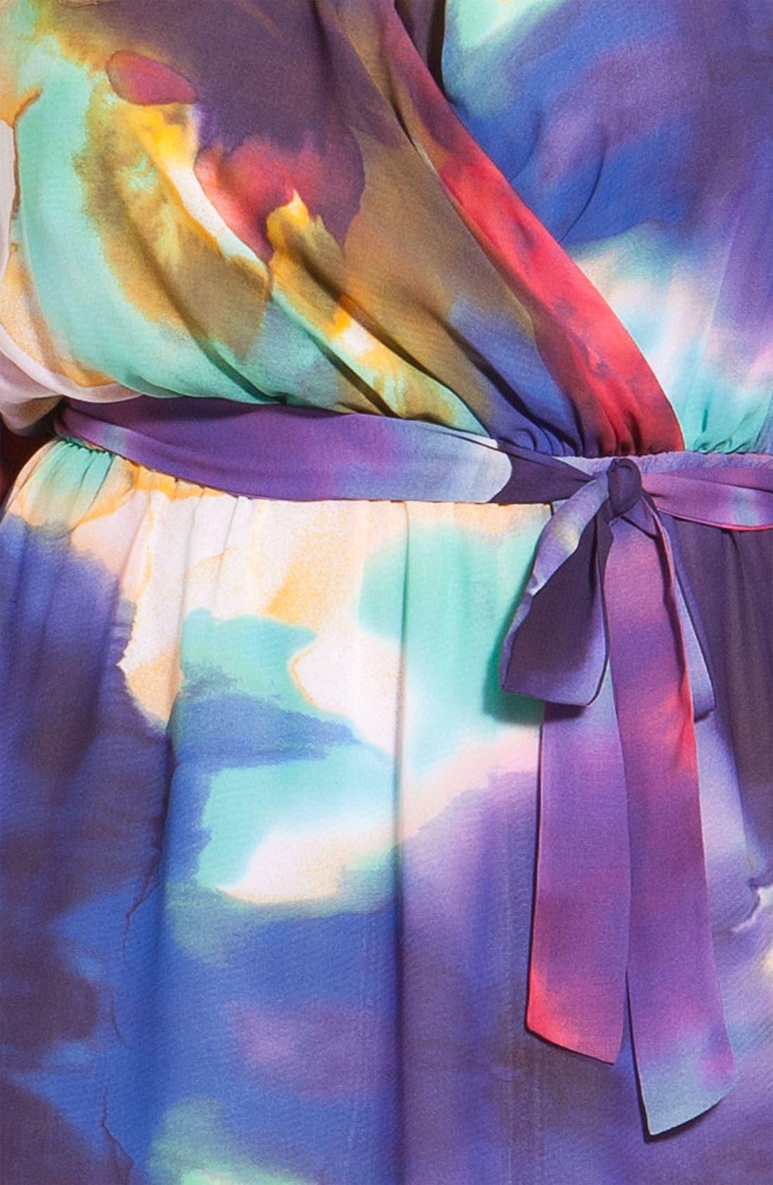 Alternate Image 3  - Suzi Chin for Maggy Boutique Faux Wrap Dress (Plus)