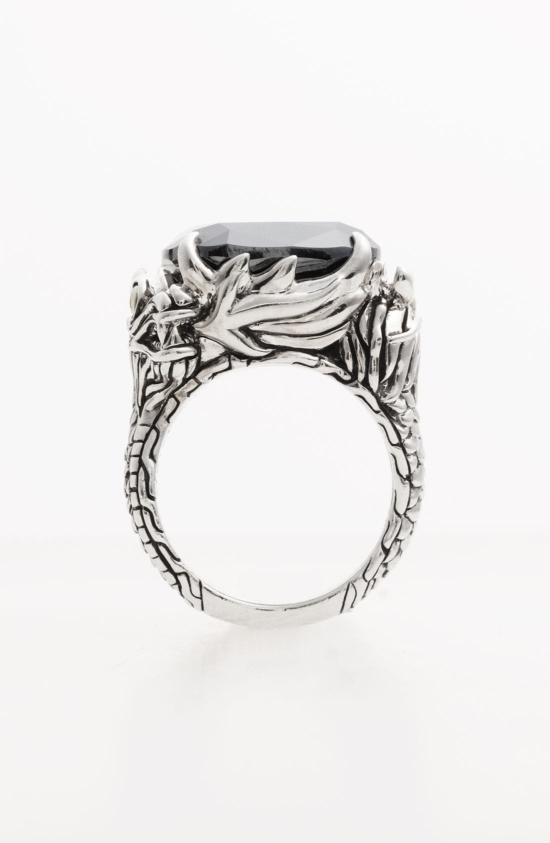 Alternate Image 2  - John Hardy 'Naga' Square Stone Ring