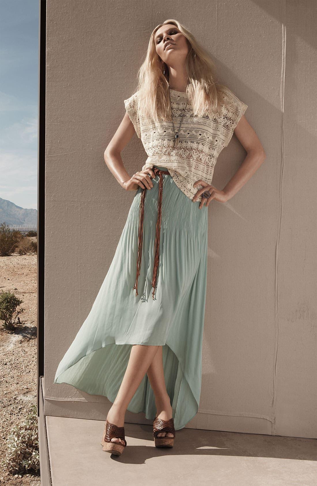 Alternate Image 6  - Sanctuary 'Leotie' Crinkled Asymmetric Maxi Skirt