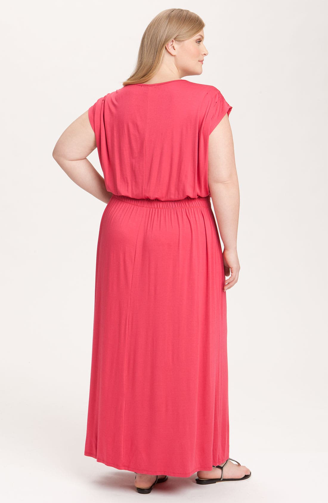 Alternate Image 2  - Olivia Moon V-Neck Knit Maxi Dress (Plus)
