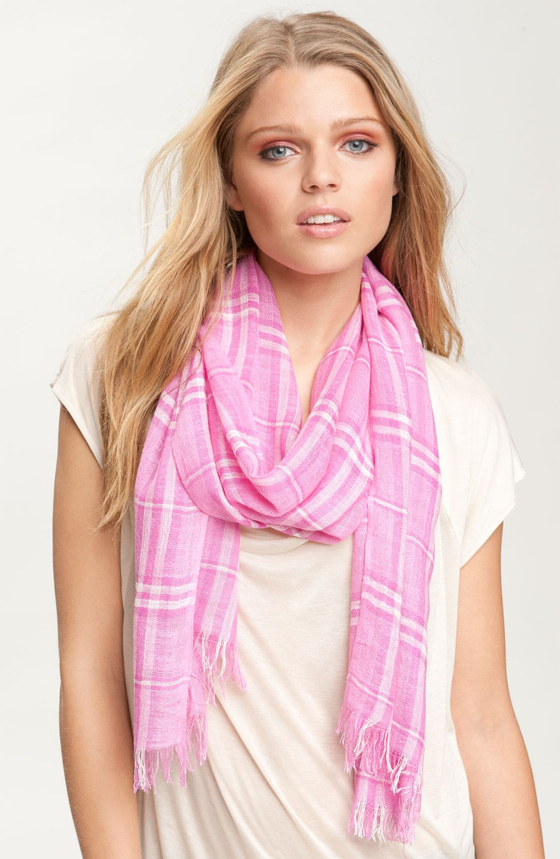 Alternate Image 1 Selected - Chelsey Plaid Scarf
